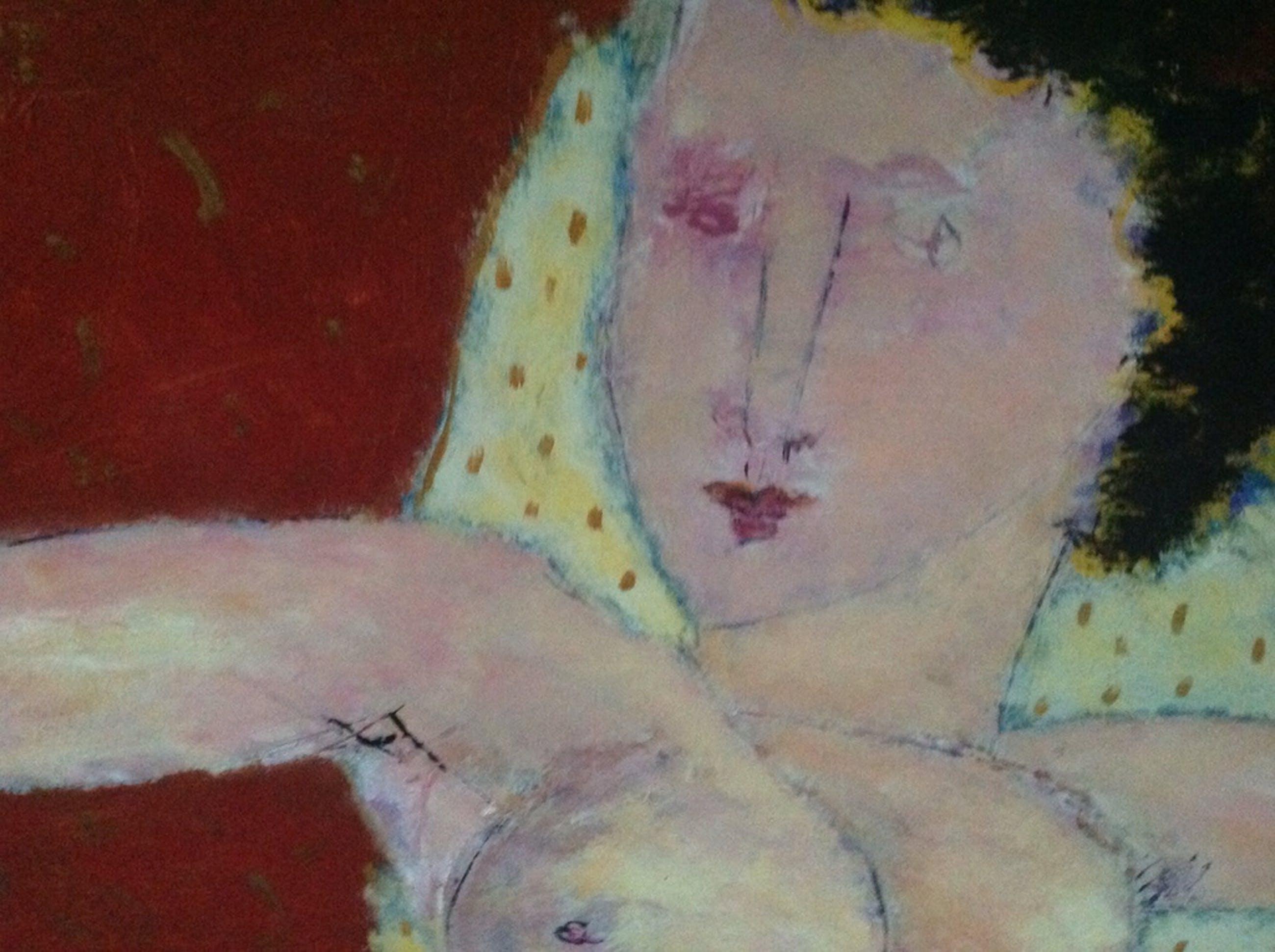 Lita van Engelenhoven, schilderij op doek, naakt 1991 groot 70 x 100 kopen? Bied vanaf 125!