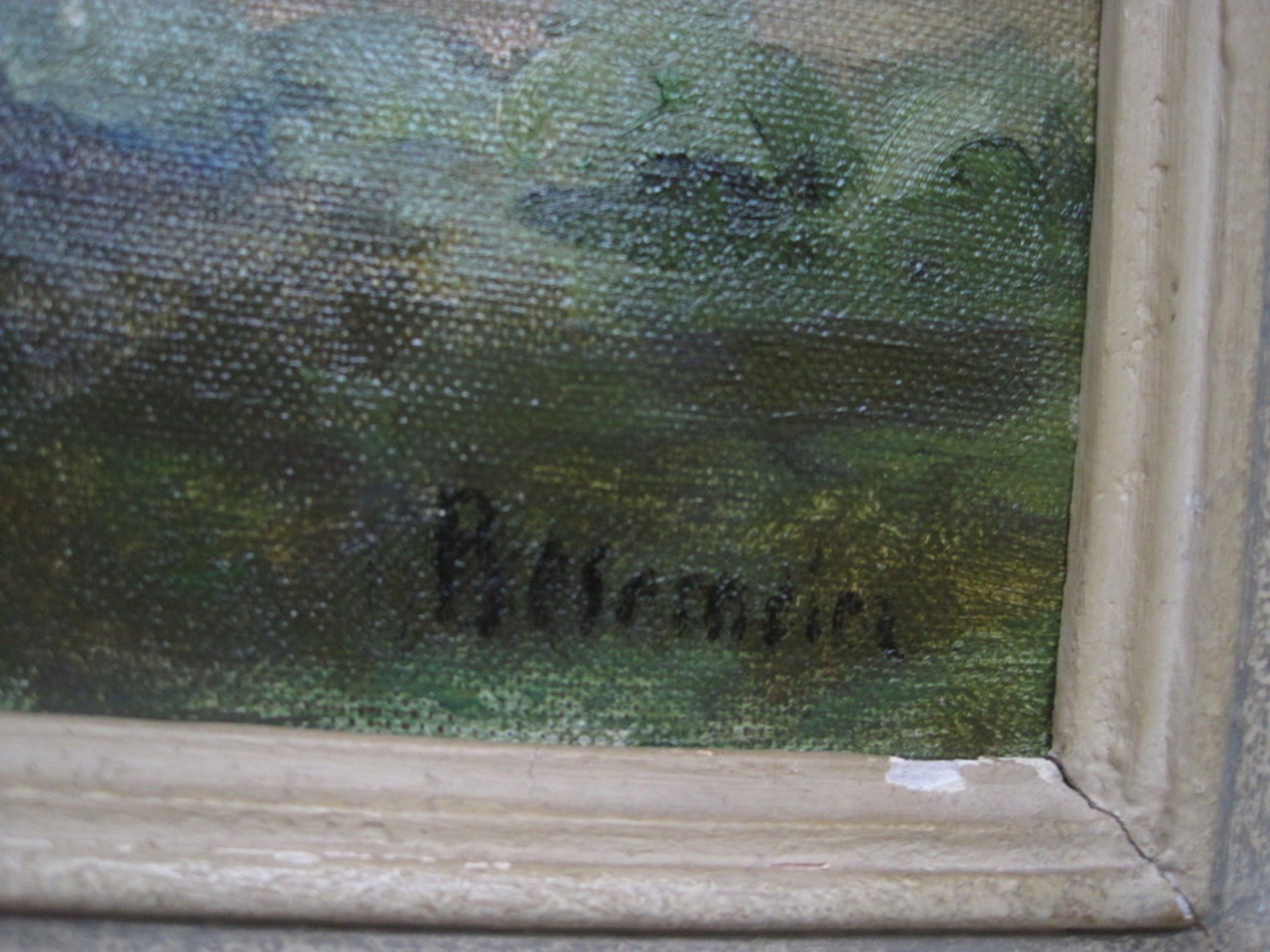 """Alex C Rosemeier olieverf 1888-1992 """"Bloesembomen in de Betuwe"""" gesigneerd  kopen? Bied vanaf 1!"""