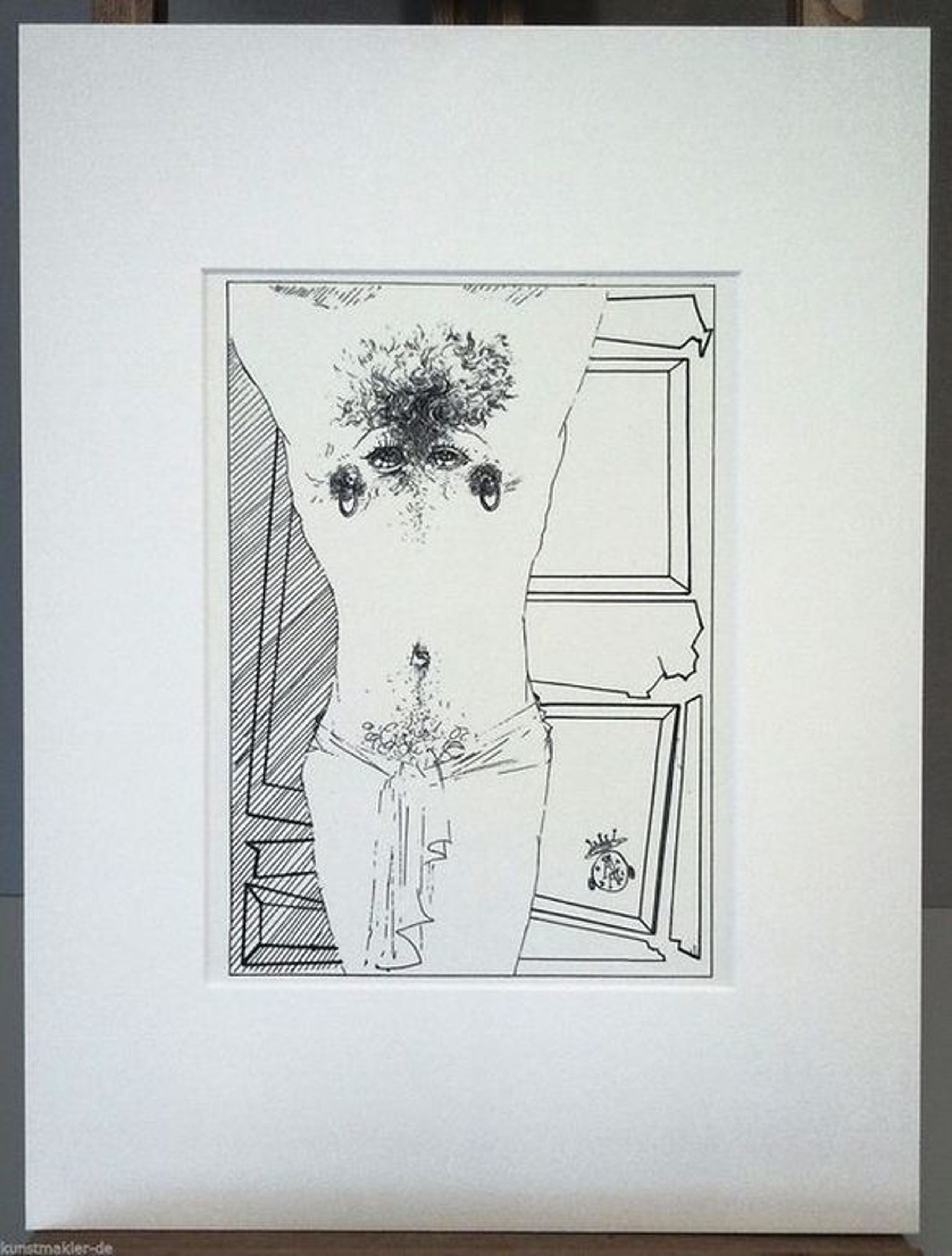 Salvador Dali - Pierced Upper Body - Lithografie - Oplage 2500 - 1944 kopen? Bied vanaf 1!