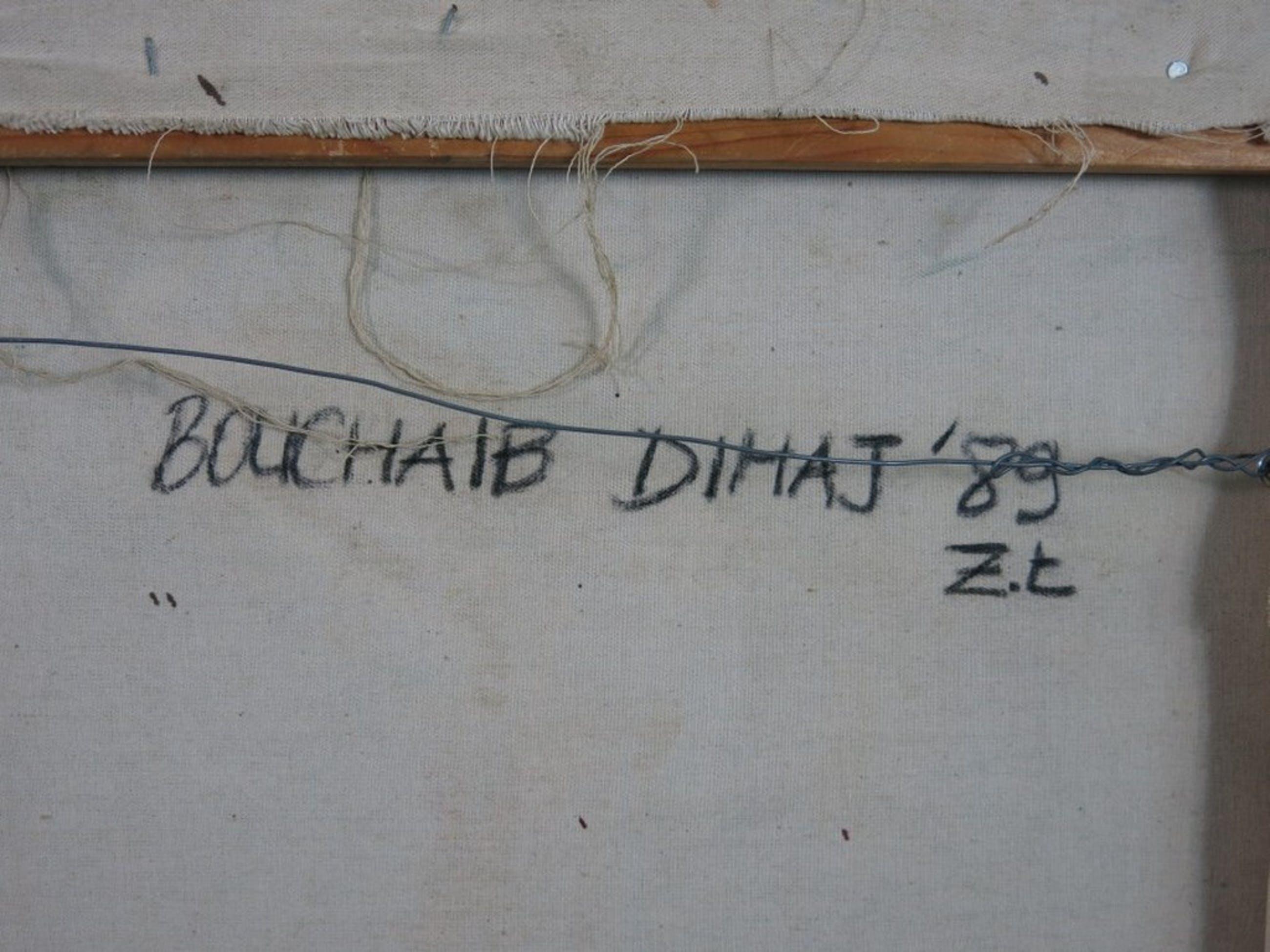 Bouchaib Dihaj: Olieverf op doek, Zonder titel  kopen? Bied vanaf 1!