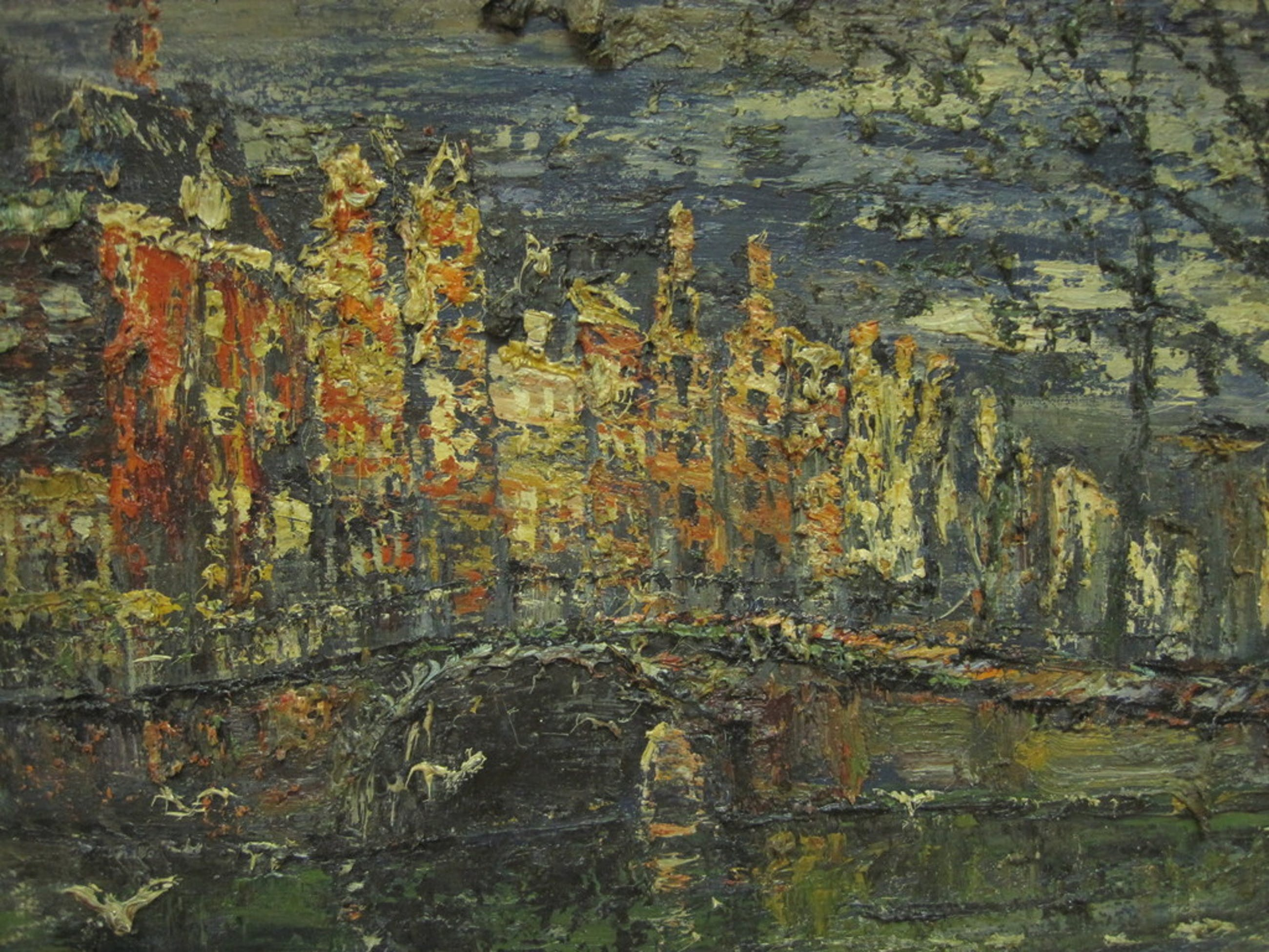 "Arnoldus Oldenhave - olieverf ""Amsterdam namiddag Herengracht"" ca 1950 kopen? Bied vanaf 1!"