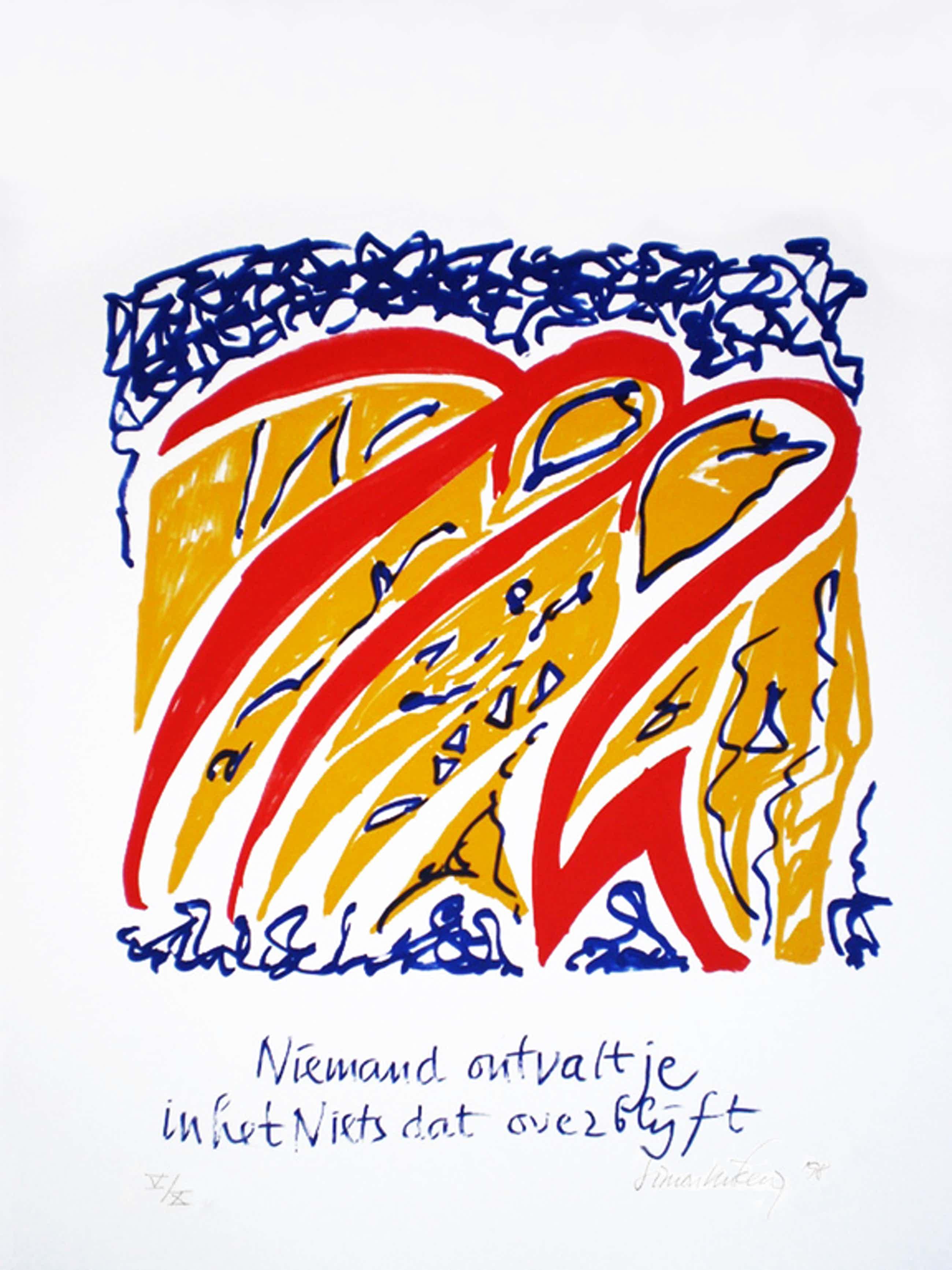 Simon Vinkenoog, zeefdruk, 1998, oplage 5 van 10 kopen? Bied vanaf 80!