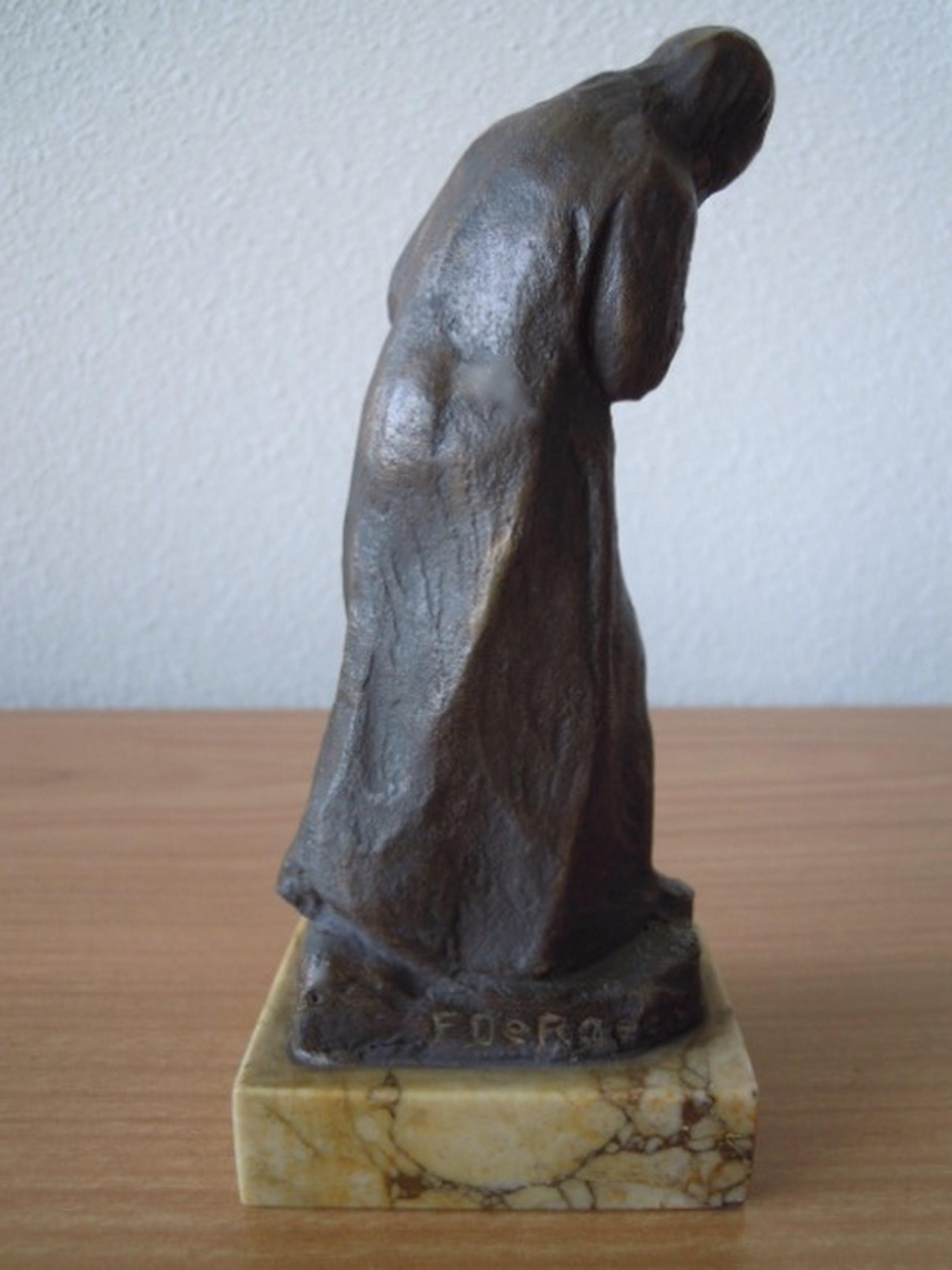 Beeldje Frans de Roeck - 1889 -1968 - Antwerpen 16 cm = gesigneerd kopen? Bied vanaf 100!