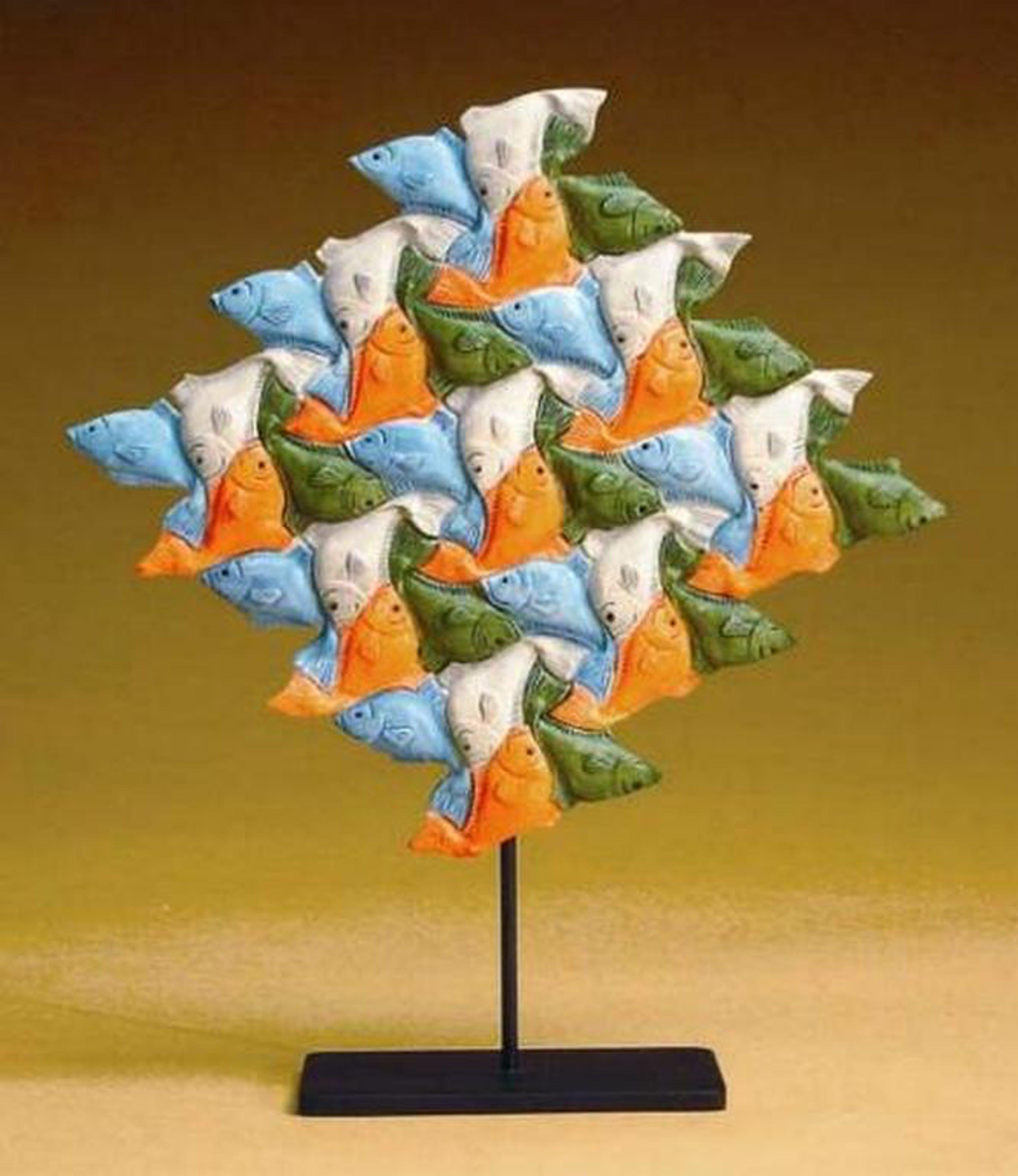 MC ESCHER, 3D-sculpture: Vissen kopen? Bied vanaf 39!