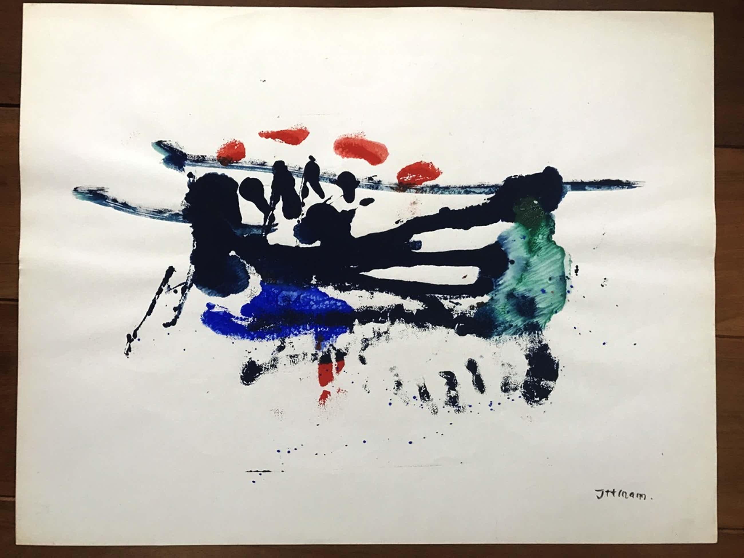 Hans ittmann aquarel moderne compositie  kopen? Bied vanaf 45!