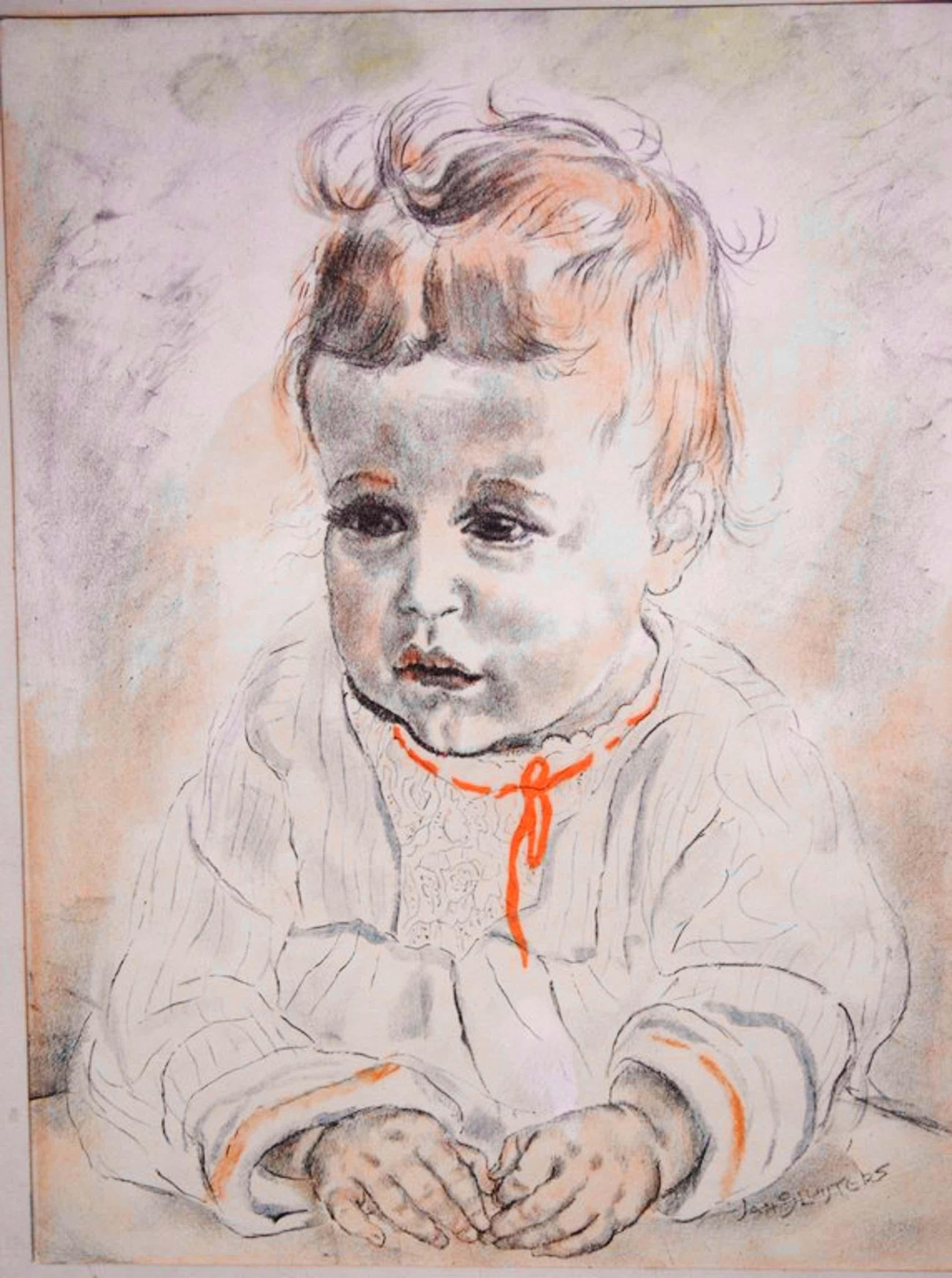Jan Sluijters, Kleurenlitho, kinderportret kopen? Bied vanaf 75!