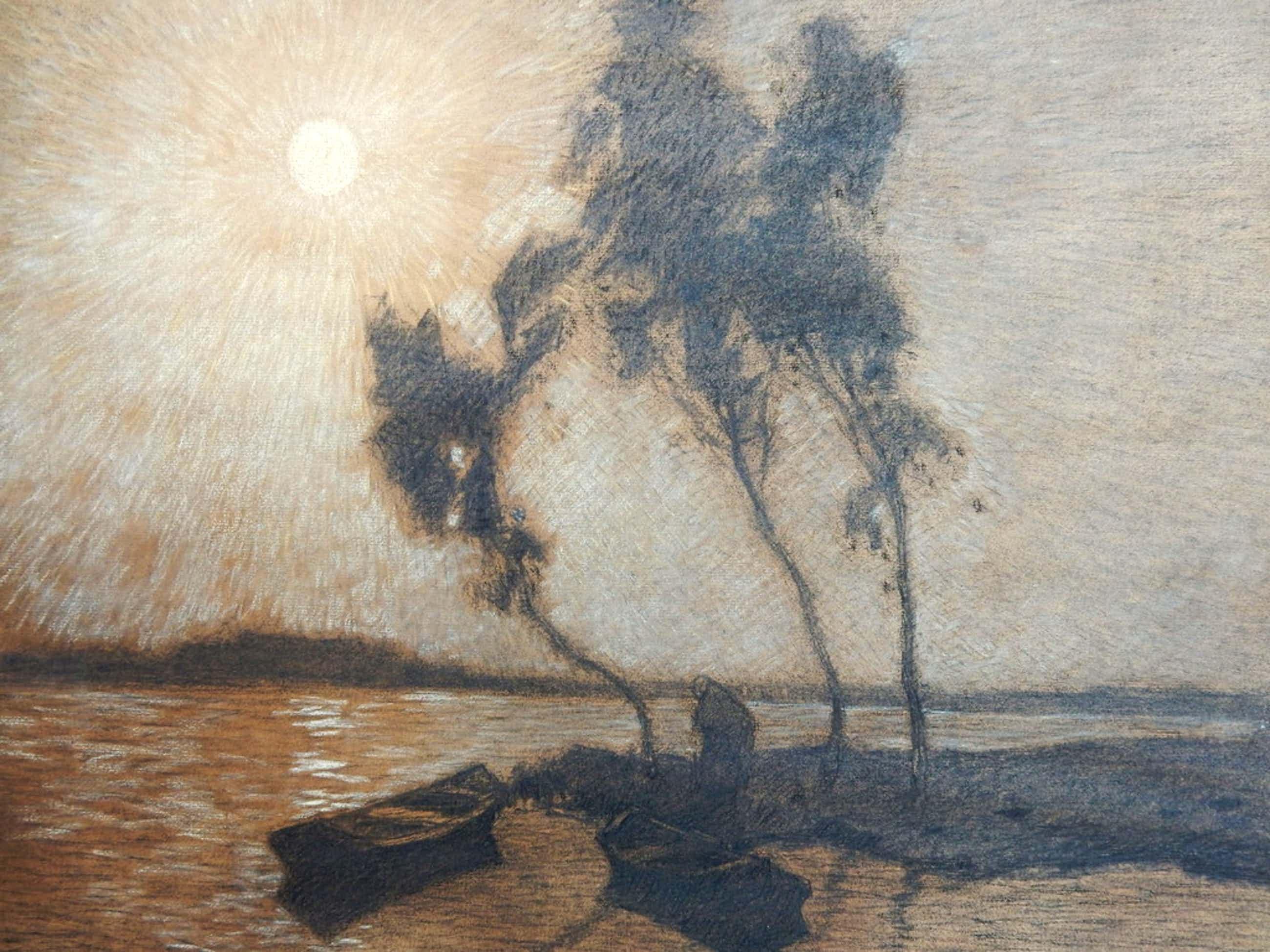 Yppe  Wenning, olieverf op dik papier, tekening met o.a. pastel kopen? Bied vanaf 125!