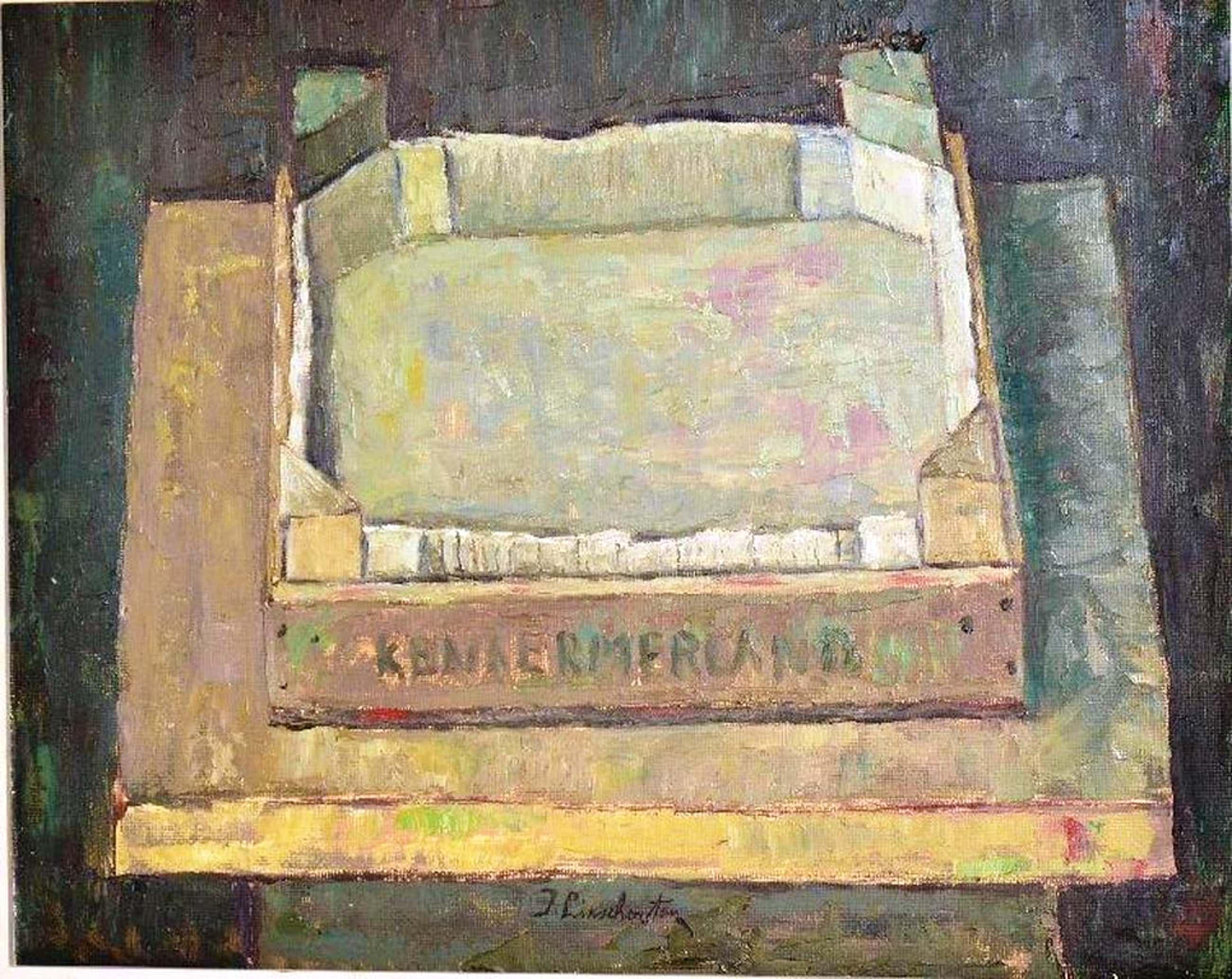 Jan Linschooten: olieverfschilderij. Kratje Kennermerland kopen? Bied vanaf 70!