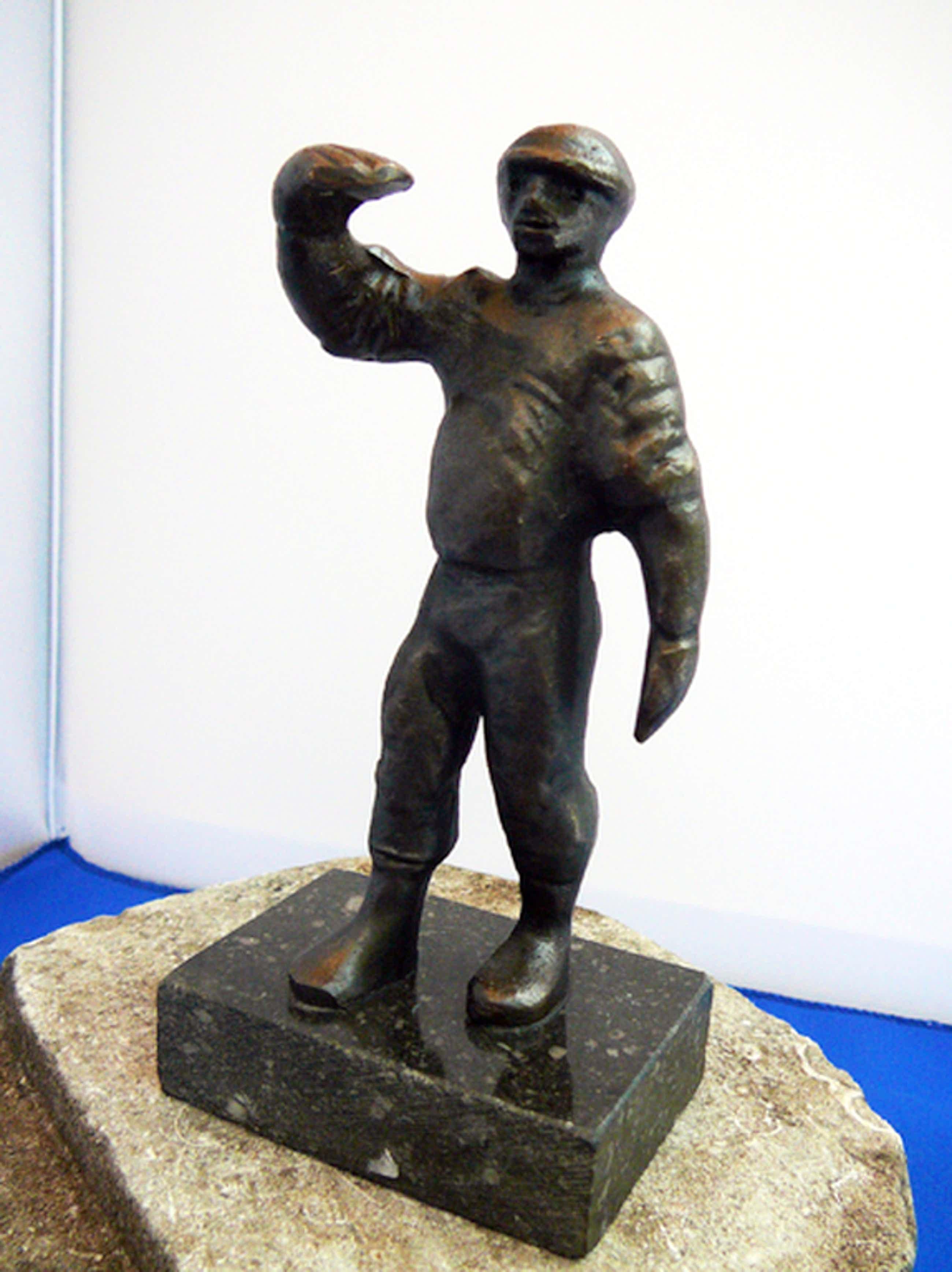 Marlies Noordkamp: 'De Steigerbouwer' -brons 1997- kopen? Bied vanaf 35!