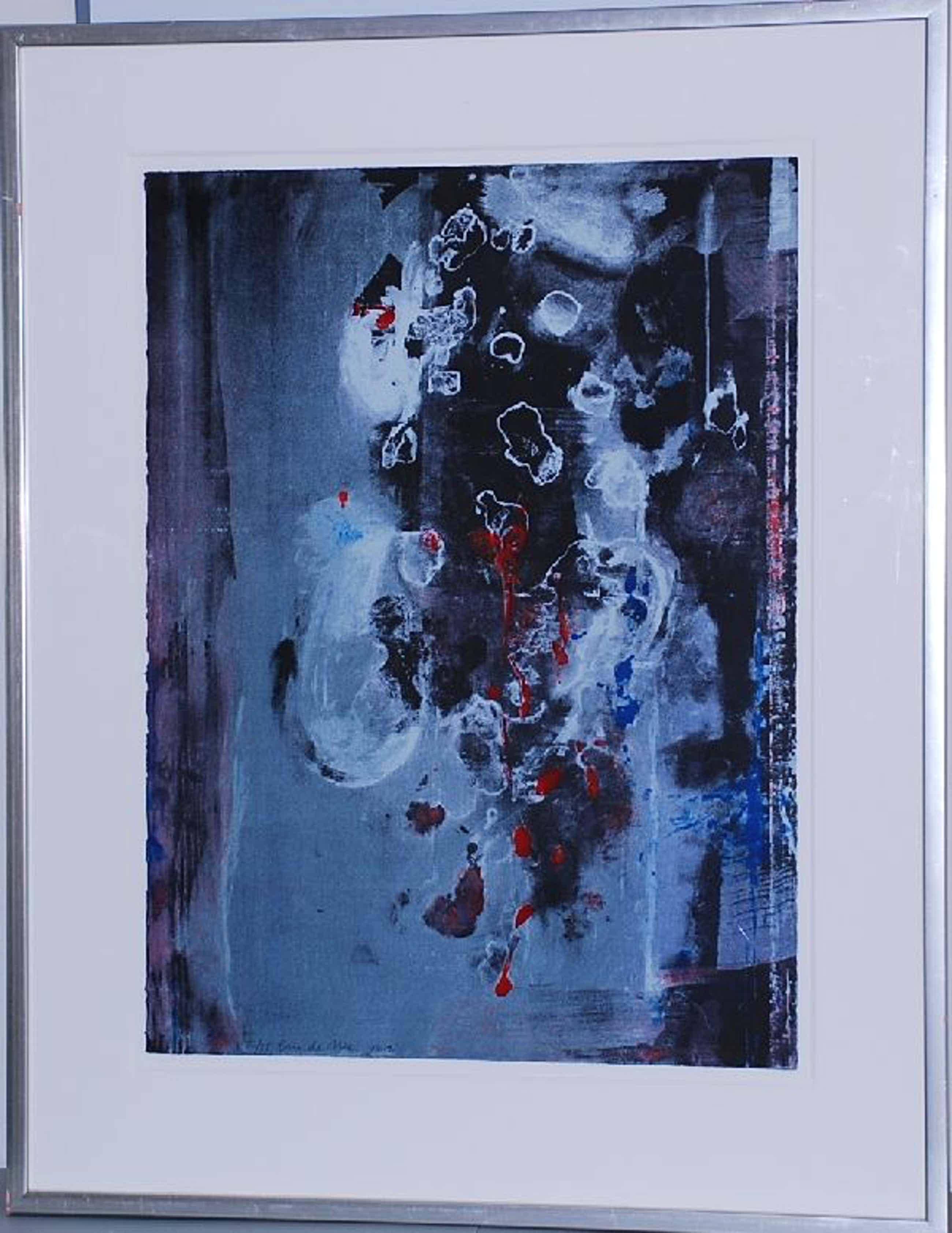 Eric de Nie: Kleurenlitho Abstracte Compositie. Ingelijst kopen? Bied vanaf 100!