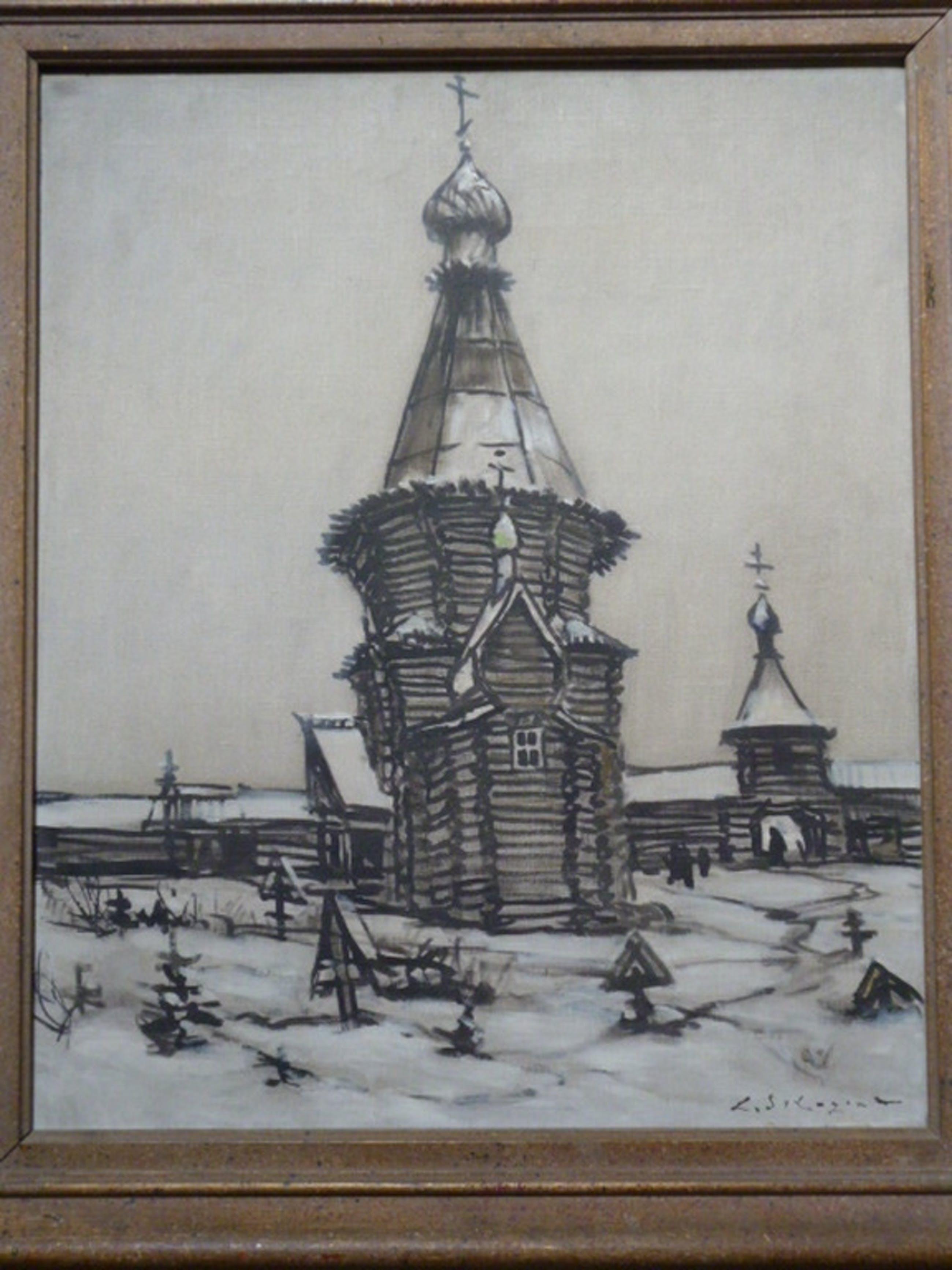 Leonid Sologaub - olieverf - Russisch orthodoxe kerk kopen? Bied vanaf 165!