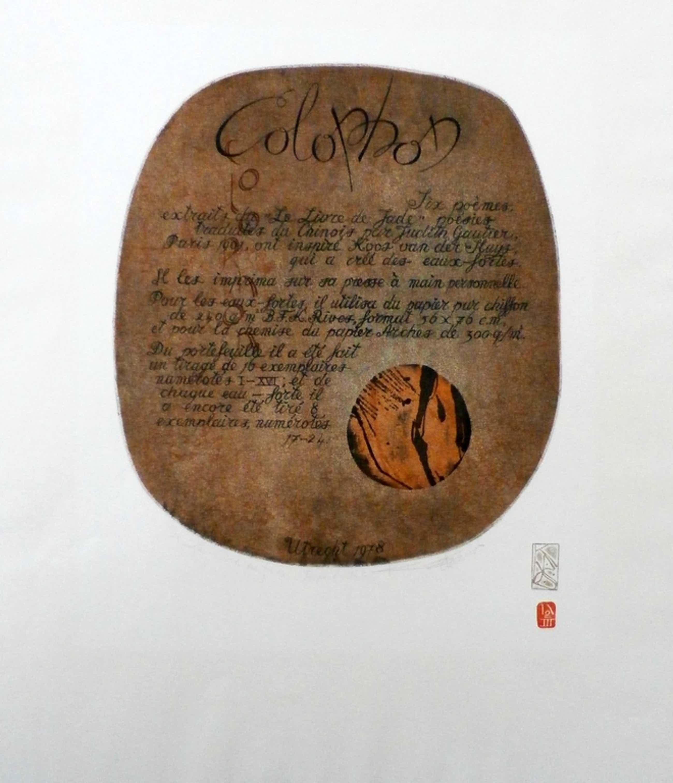 Koos van der Sluys - litho: Colophon - 1978  kopen? Bied vanaf 35!