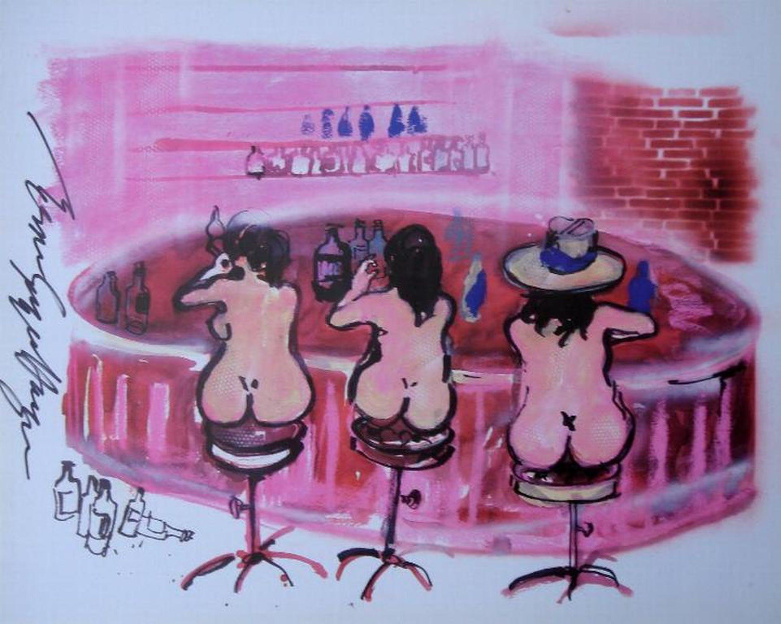 GREGER ESPEN HAGEN, handgesigneerde litho: Bargirls kopen? Bied vanaf 1!