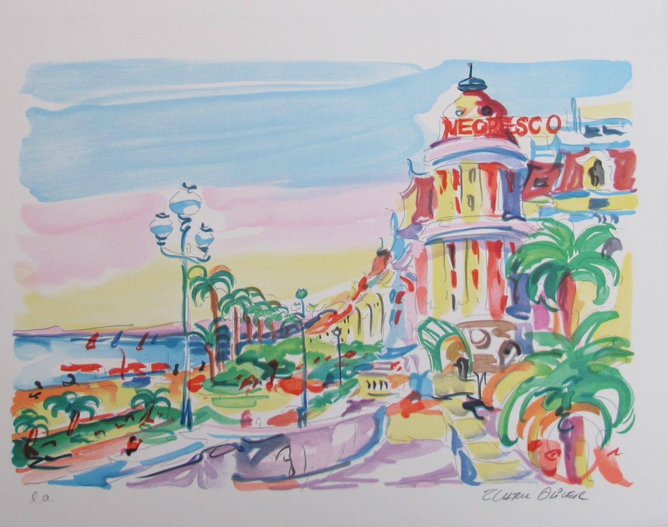 Zladku Oliver 'Nice' - kleurenlithografie, handgesigneerd kopen? Bied vanaf 29!