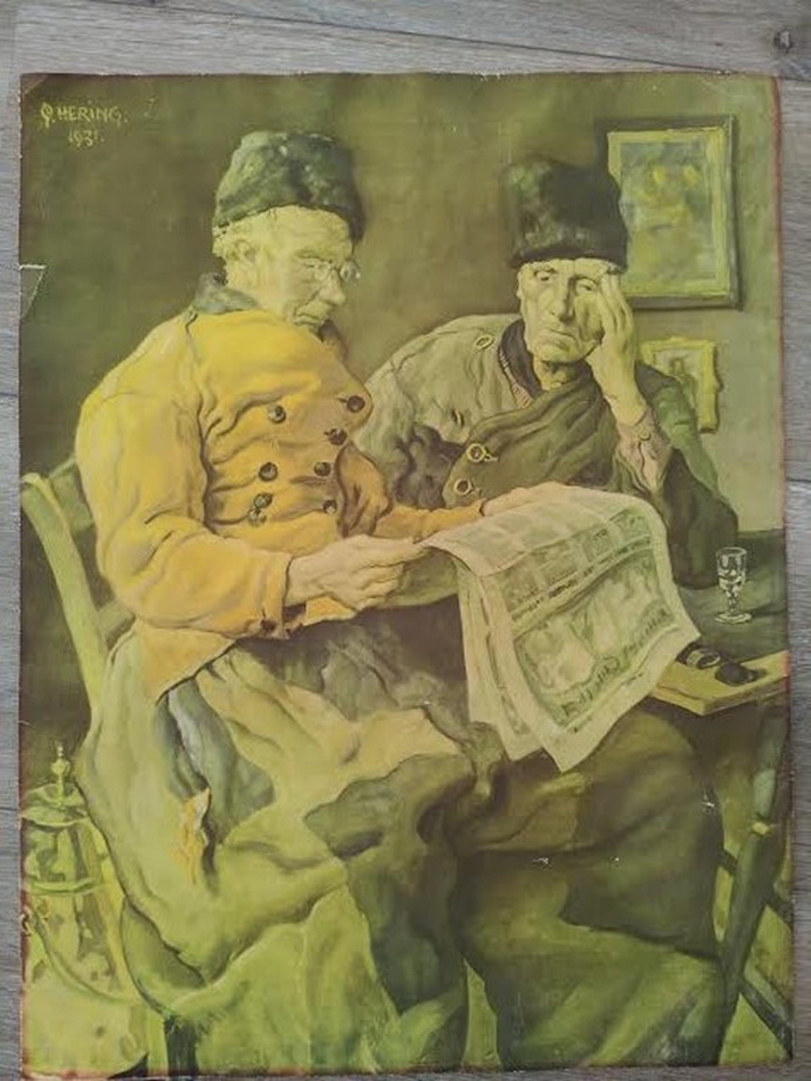 Georg Hering, Oud drukwerk, volendams thuistafereel kopen? Bied vanaf 10!