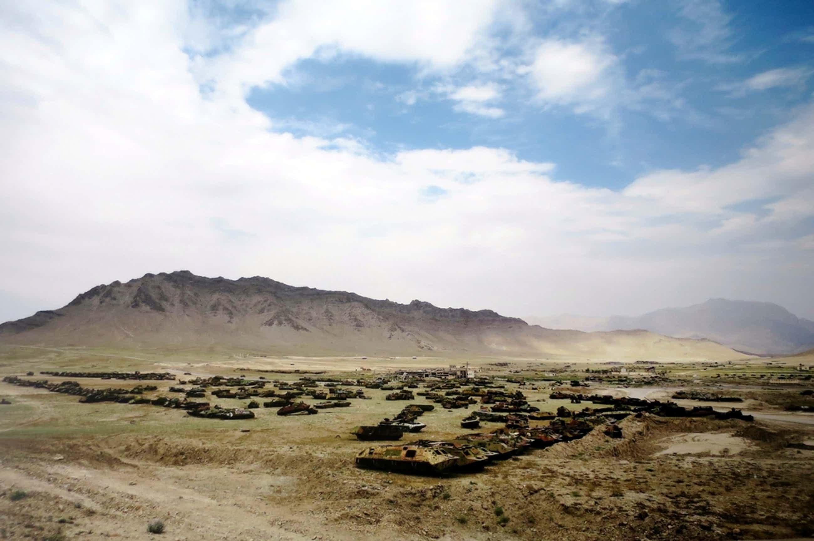 Hans Stakelbeek (1965) | Lambdaprint op Aluminium | Afghanistan - zeer groot! kopen? Bied vanaf 56!