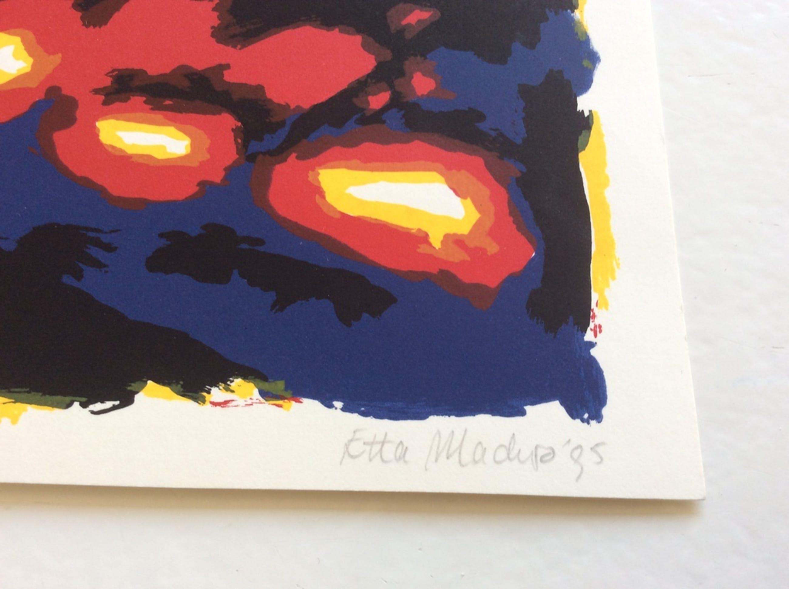 Etta Maduro - zeefdruk, 1995, gesign. kopen? Bied vanaf 1!