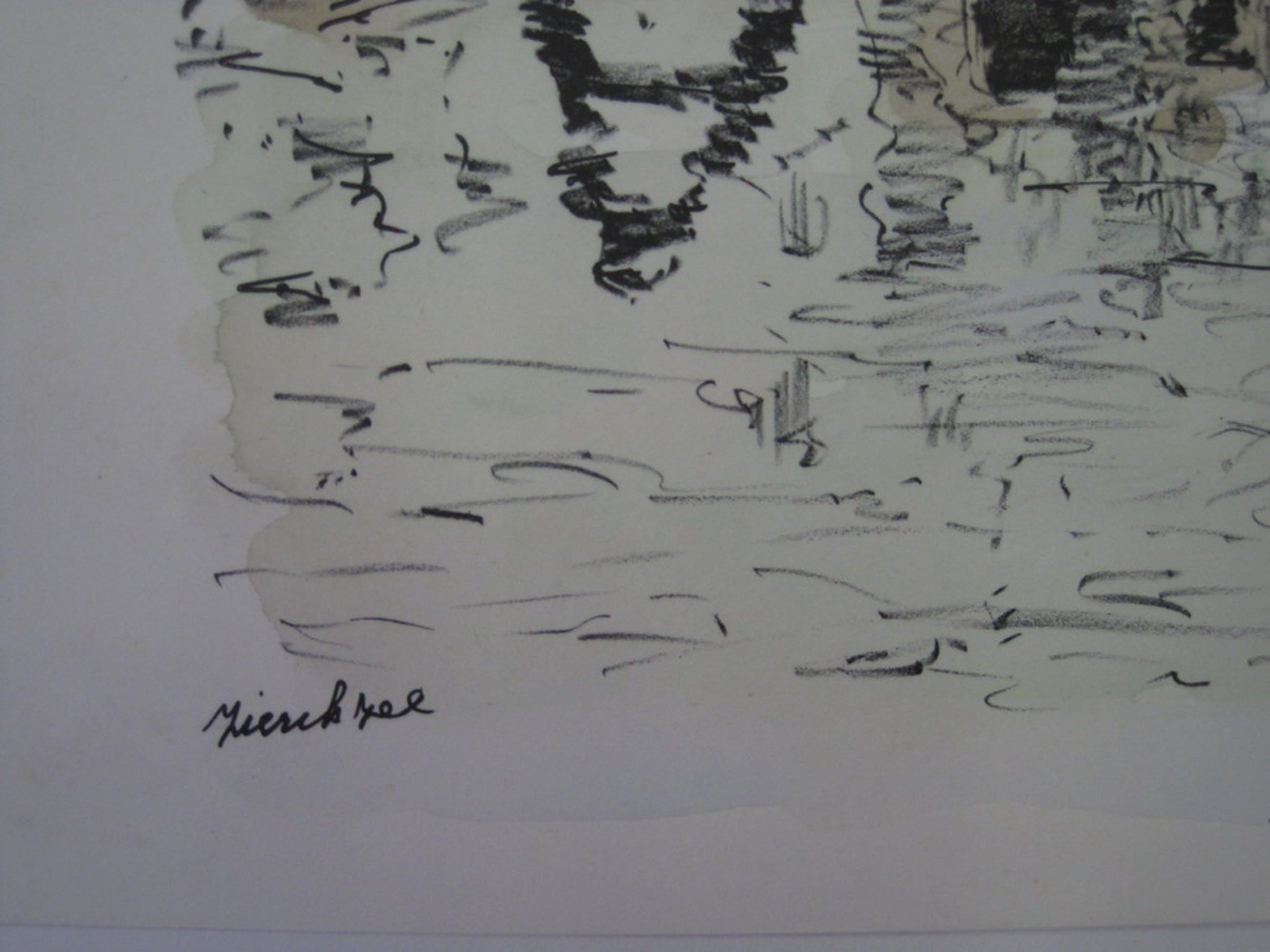 """Grote gedetailleerde Aquarel """"Zierikzee Zeeland"""" gesigneerd Bob Brobbel (1907) kopen? Bied vanaf 1!"""
