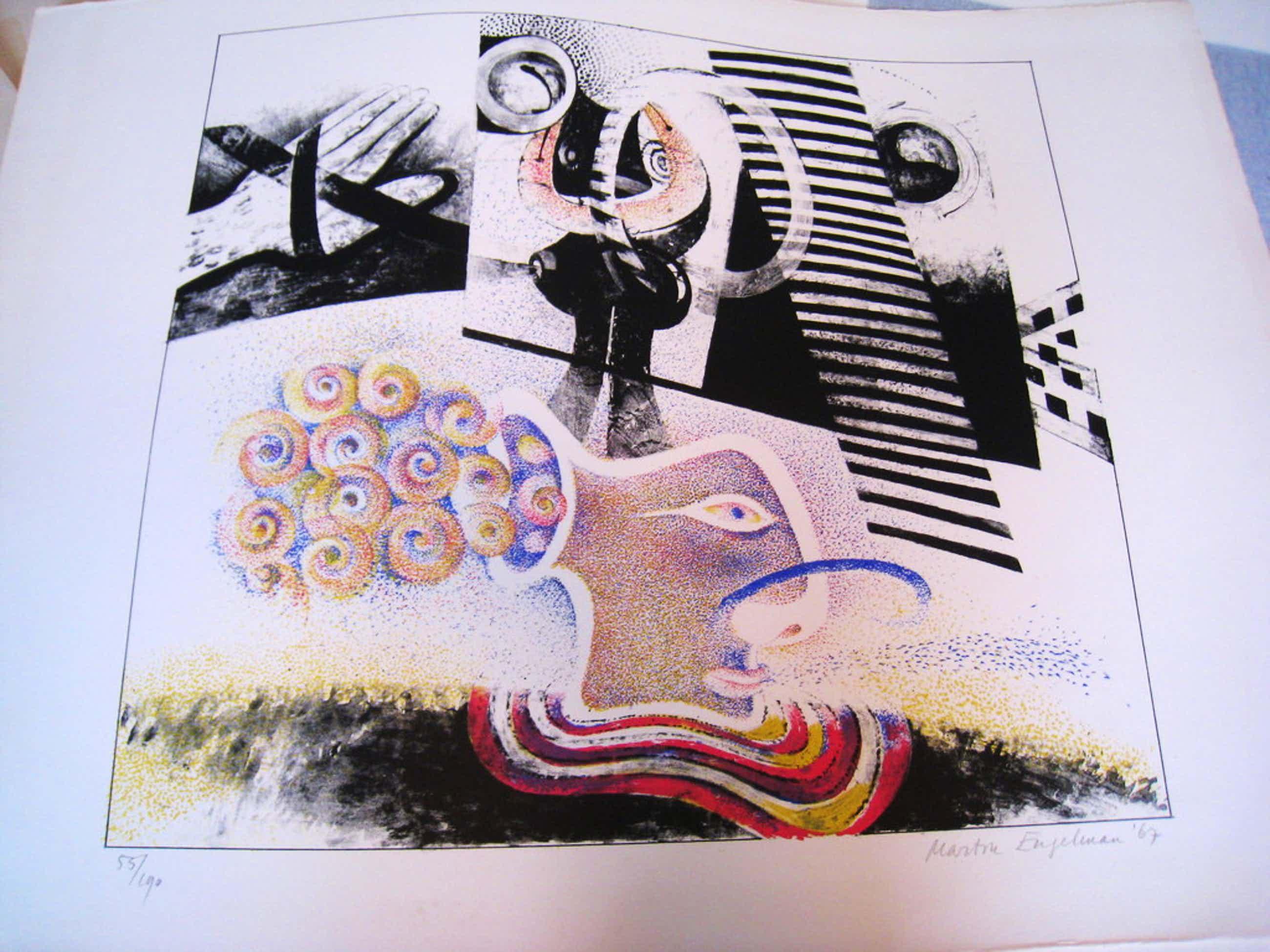 Martin Engelman, kleurenlitho 'Boegbeeld op zwarte zee' kopen? Bied vanaf 50!