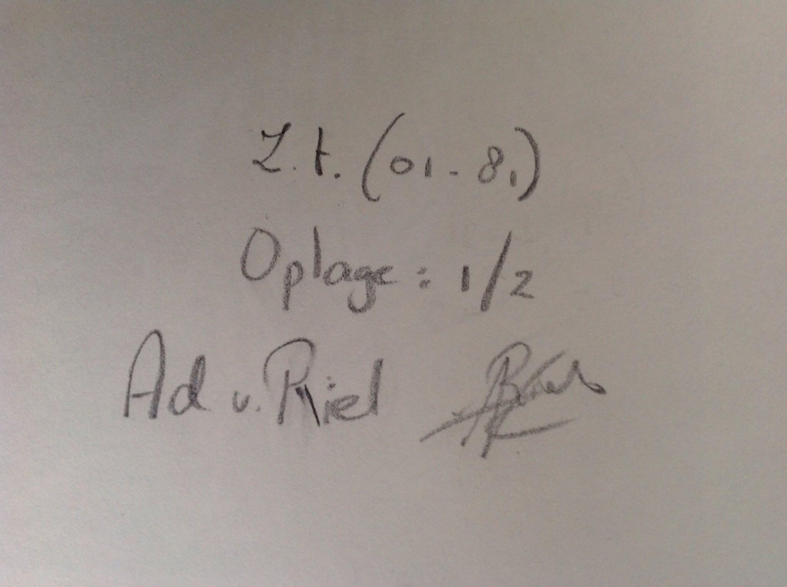 Ad van Riel :houtsnede , zonder titel kopen? Bied vanaf 35!