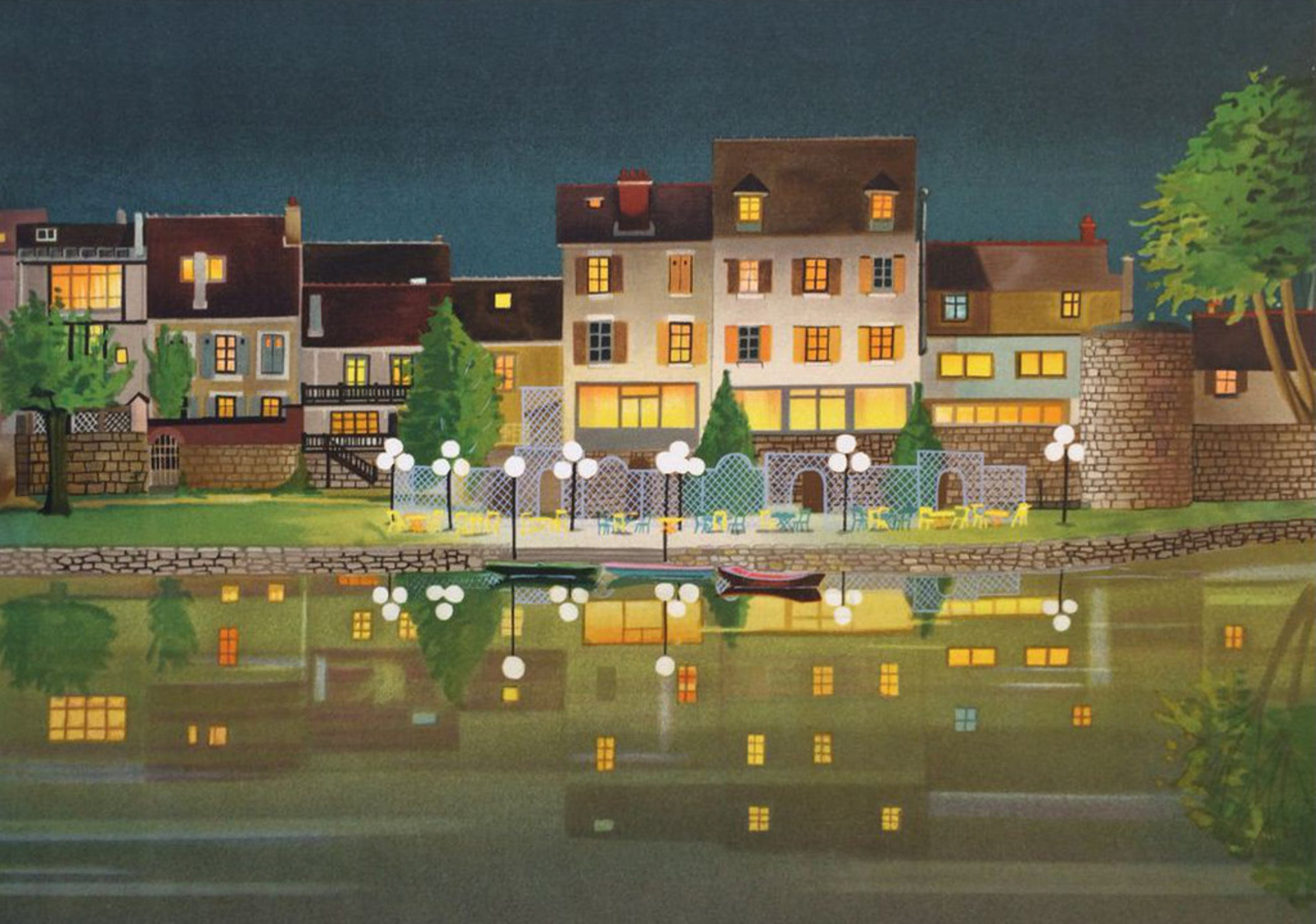 LECOINDRE. -Les Lampadaires Blanc- Zeer mooi werk uit 2014 Handgesigneerd. kopen? Bied vanaf 75!