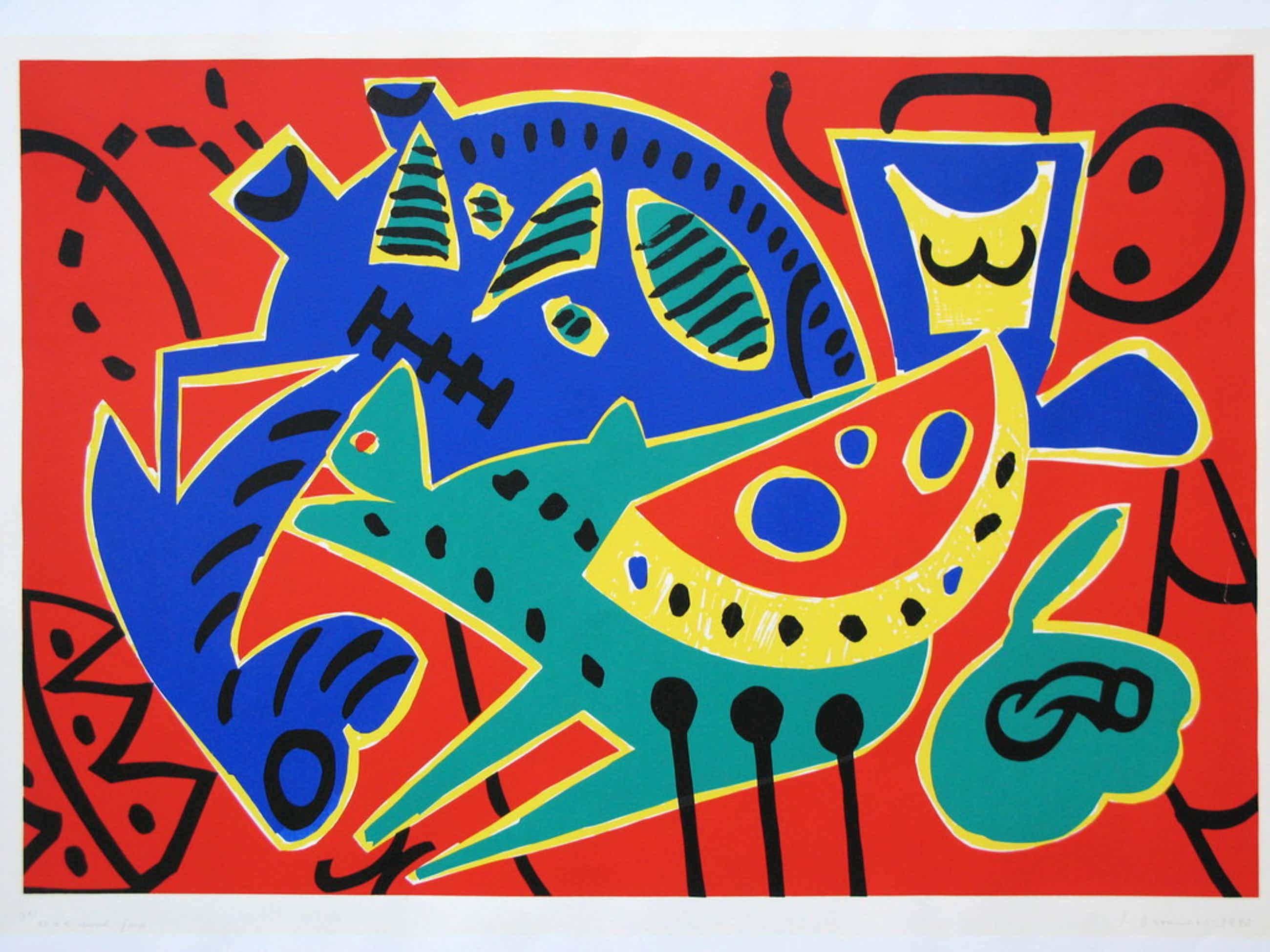 YOLANDE BROUWERS - modern werk uit 1990 - GESIGNEERD en mooi INGELIJST. kopen? Bied vanaf 50!