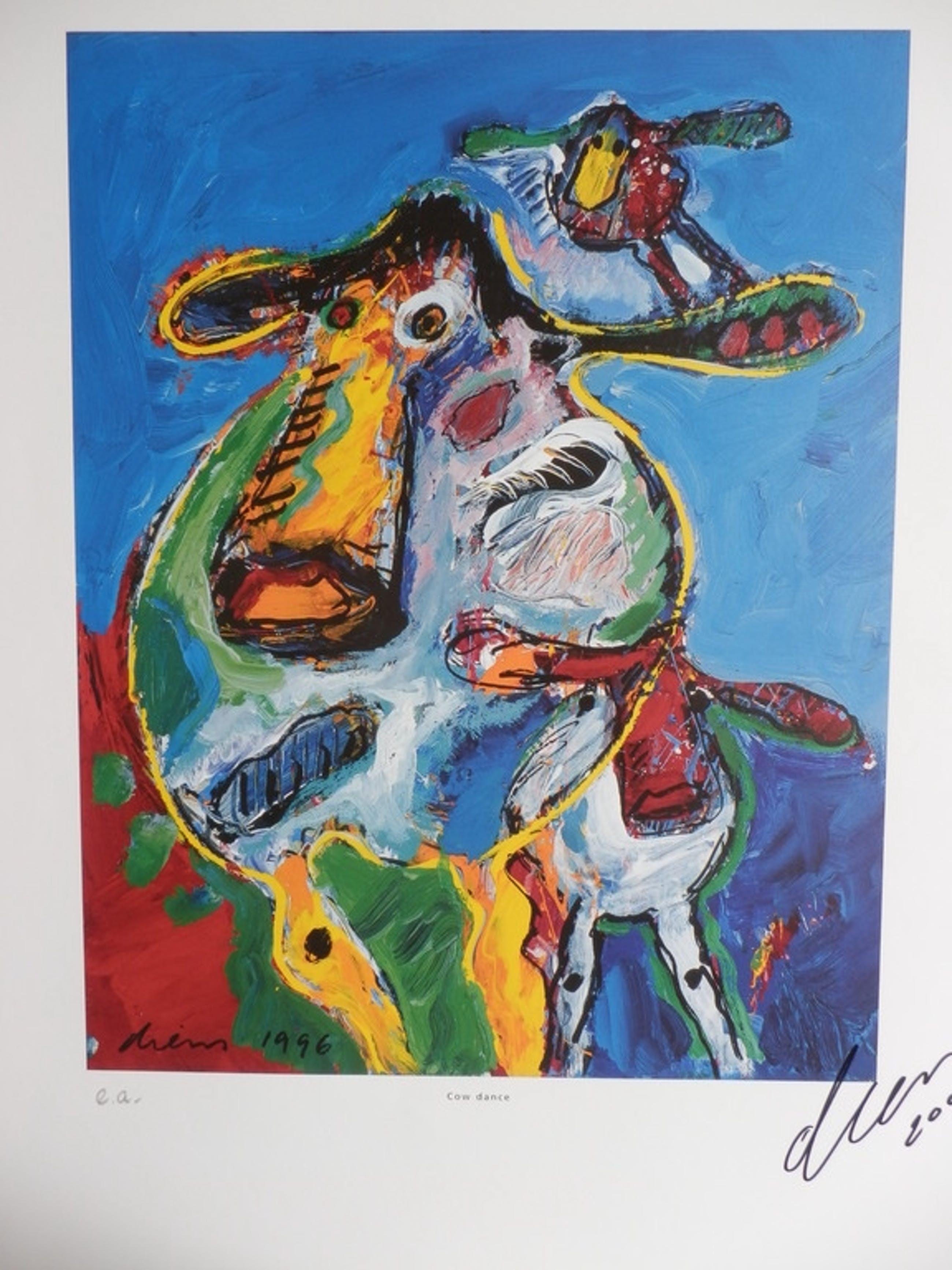 PETER DIEM  Handgesigneerde Zeefdruk  COW DANCE uit 1996 kopen? Bied vanaf 25!