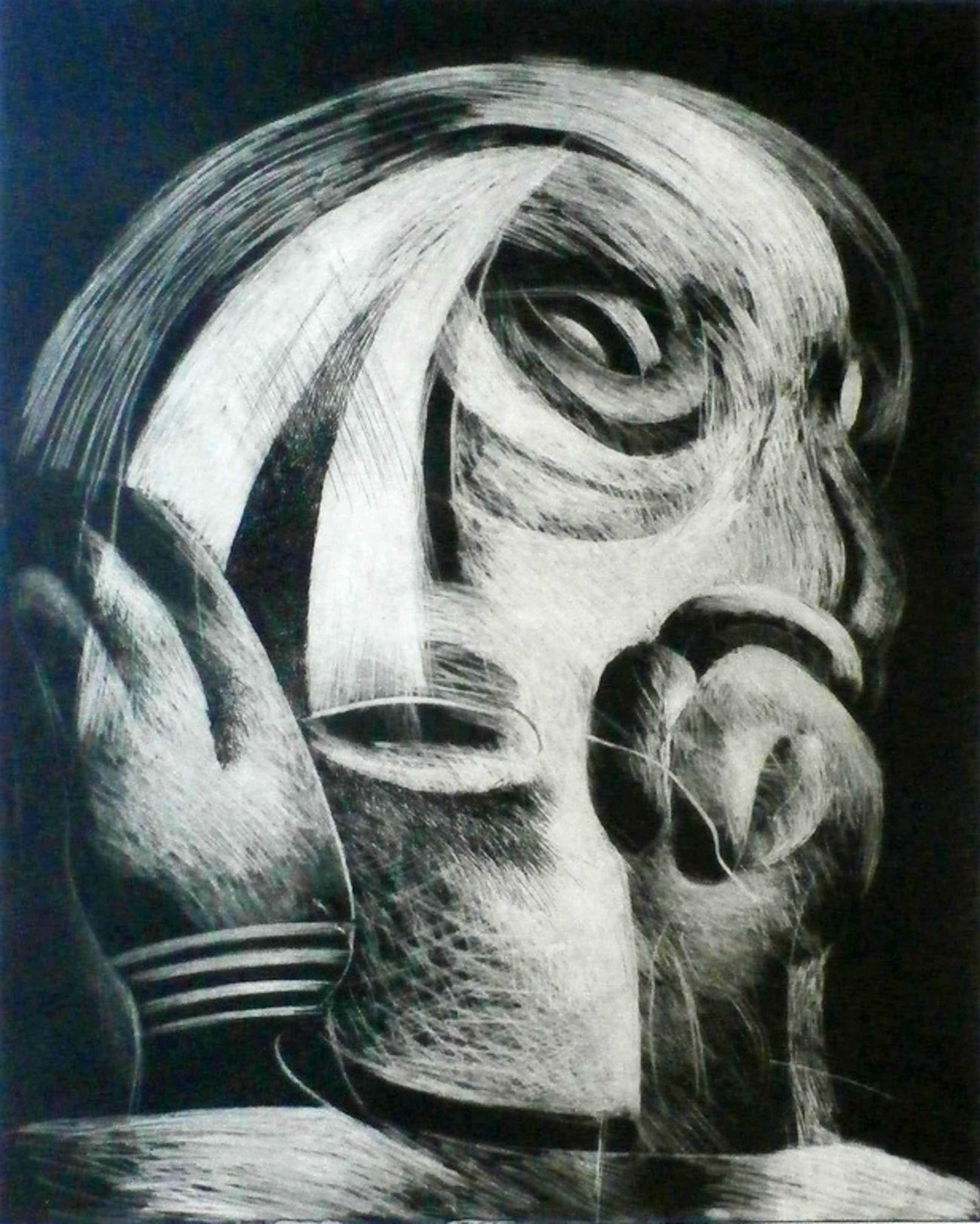 Martin Engelman - ets/mezzotint - 1969 - kleine oplage kopen? Bied vanaf 75!