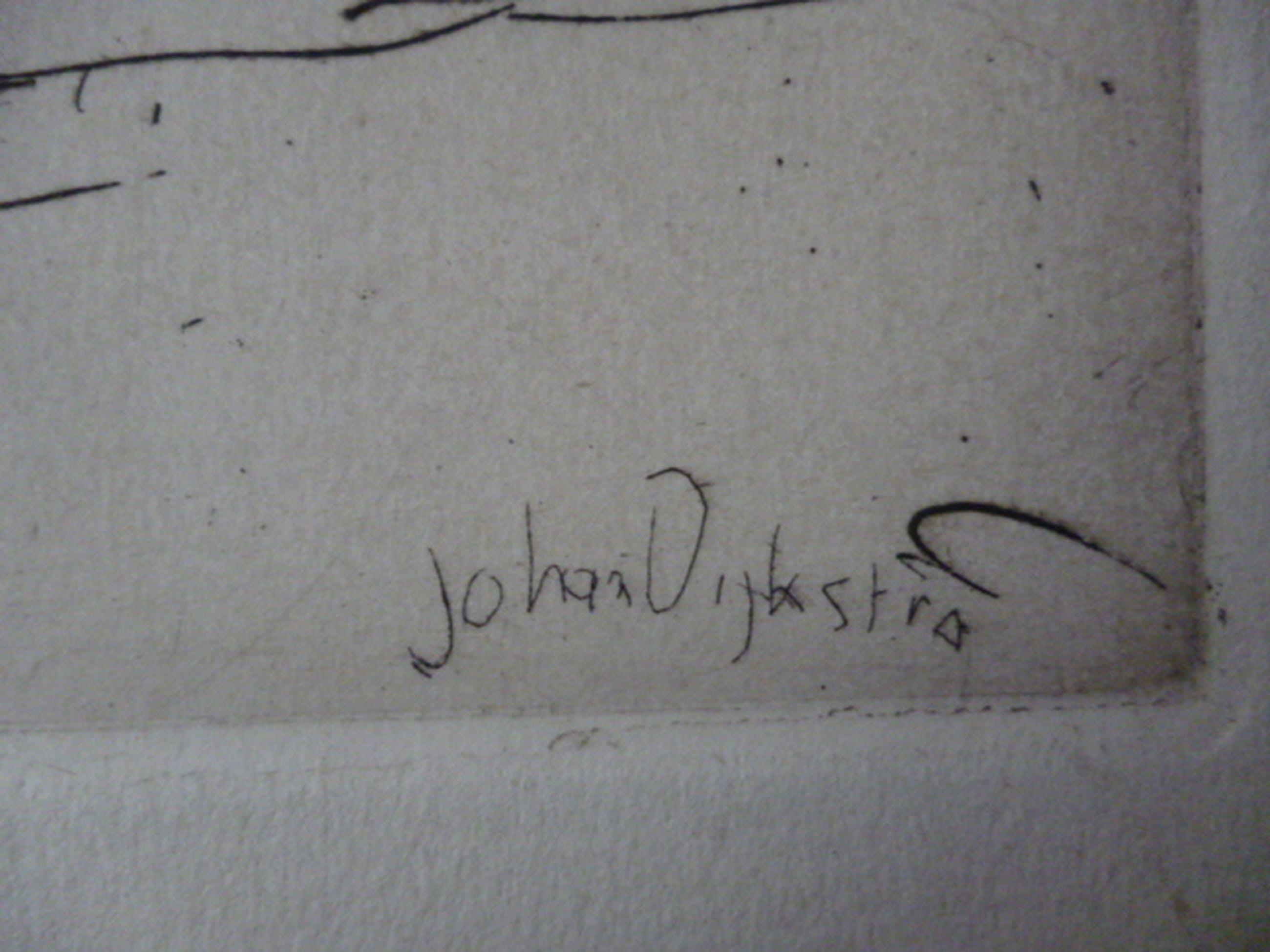 Johan Dijkstra - ets - Gezicht op Obergum kopen? Bied vanaf 35!