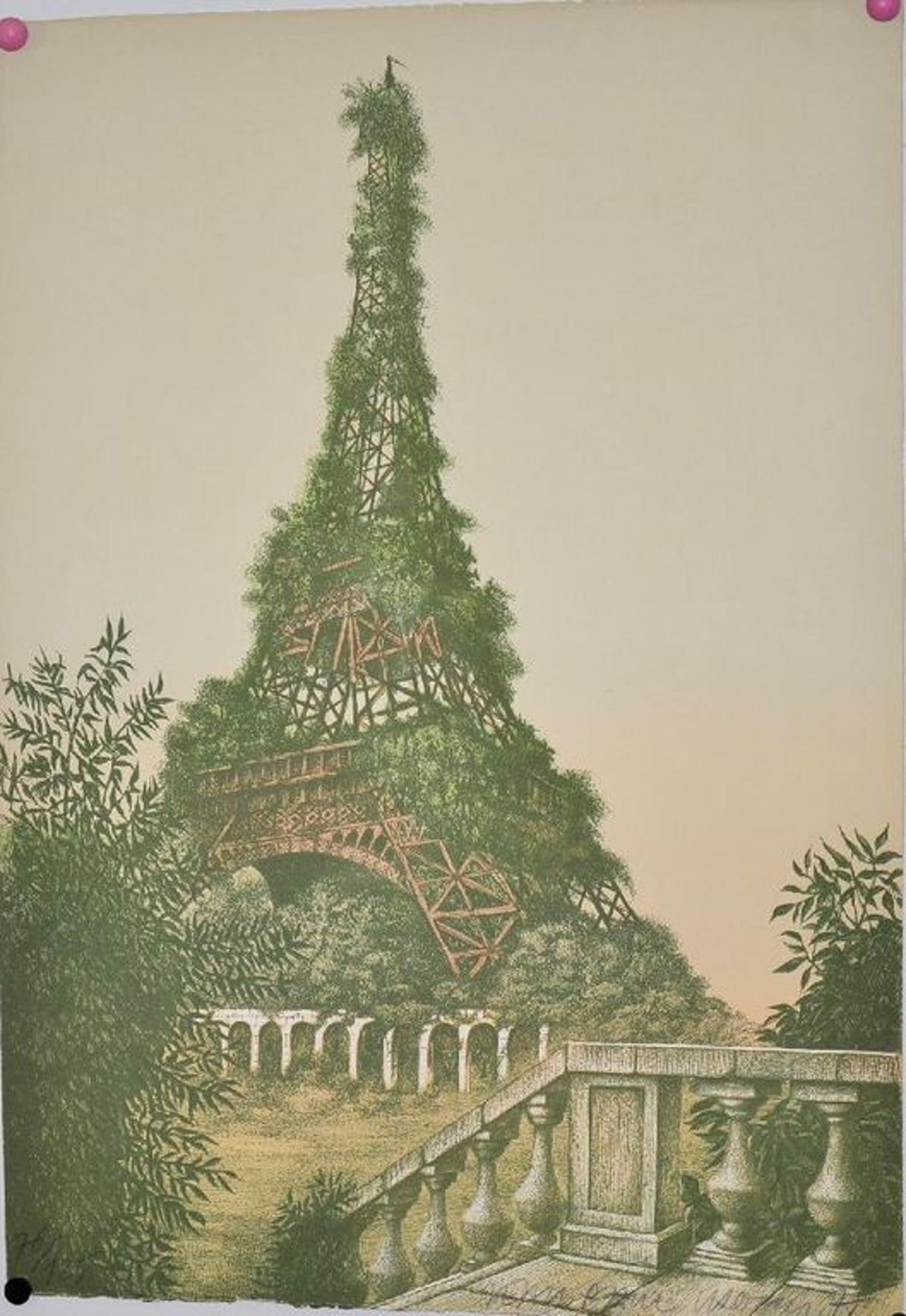 Jean-Paul Vroom: Eiffeltoren, lithografie kopen? Bied vanaf 50!
