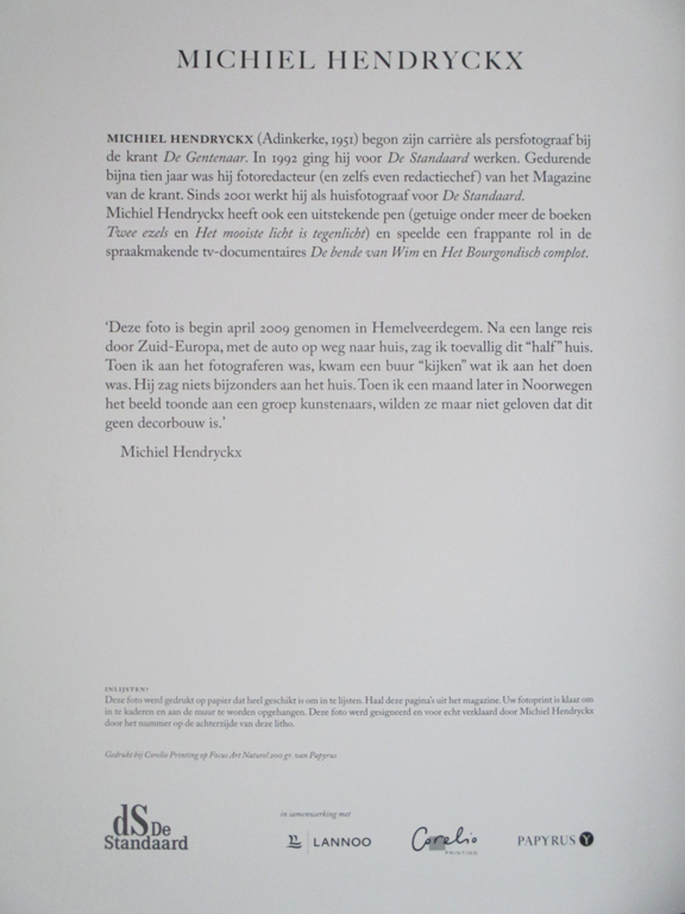 Michiel Hendryckx, litho, 37x 27 cm kopen? Bied vanaf 35!