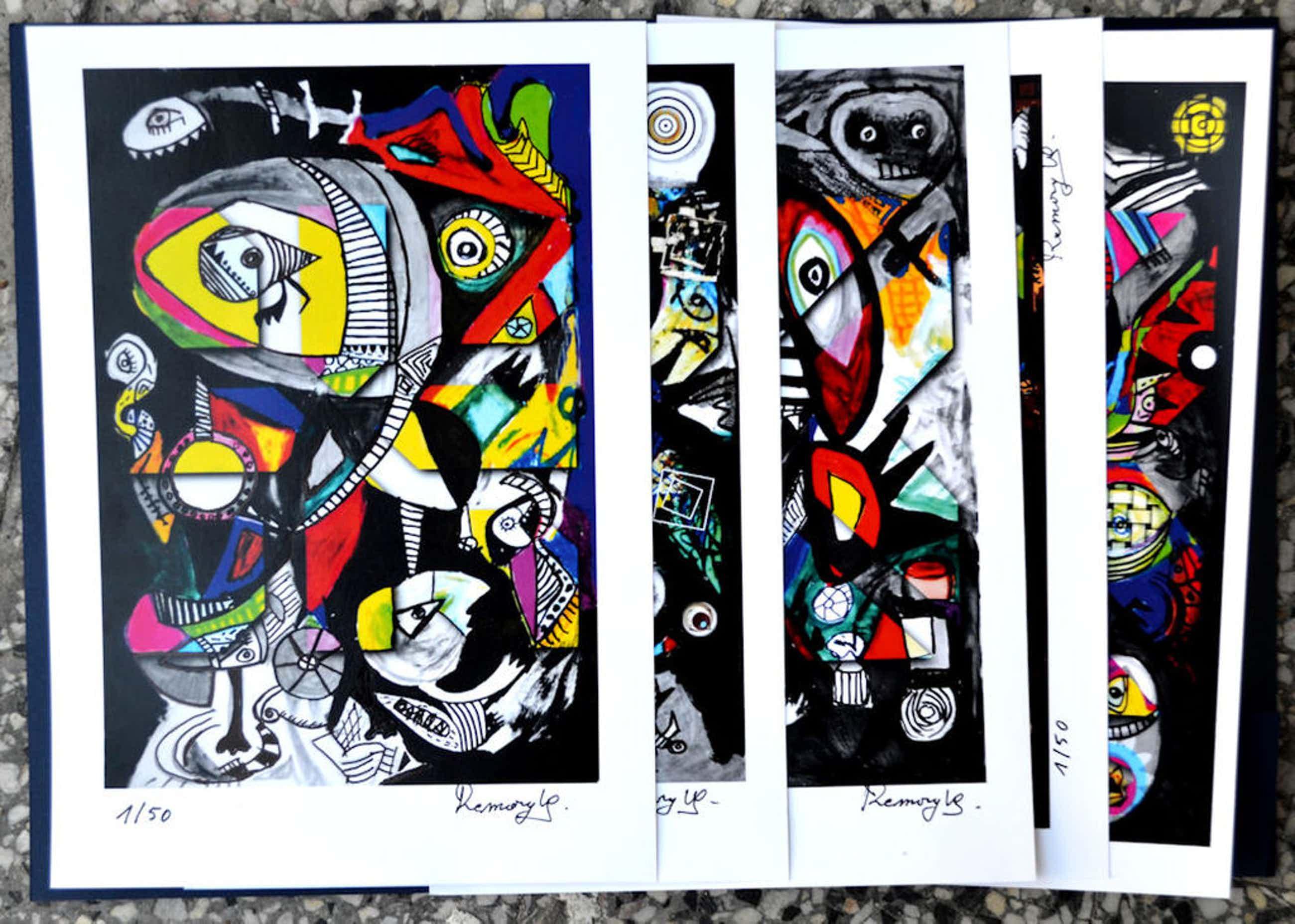 mooie map met 5 Art prints- allen genummerd en gesigneerd kopen? Bied vanaf 80!