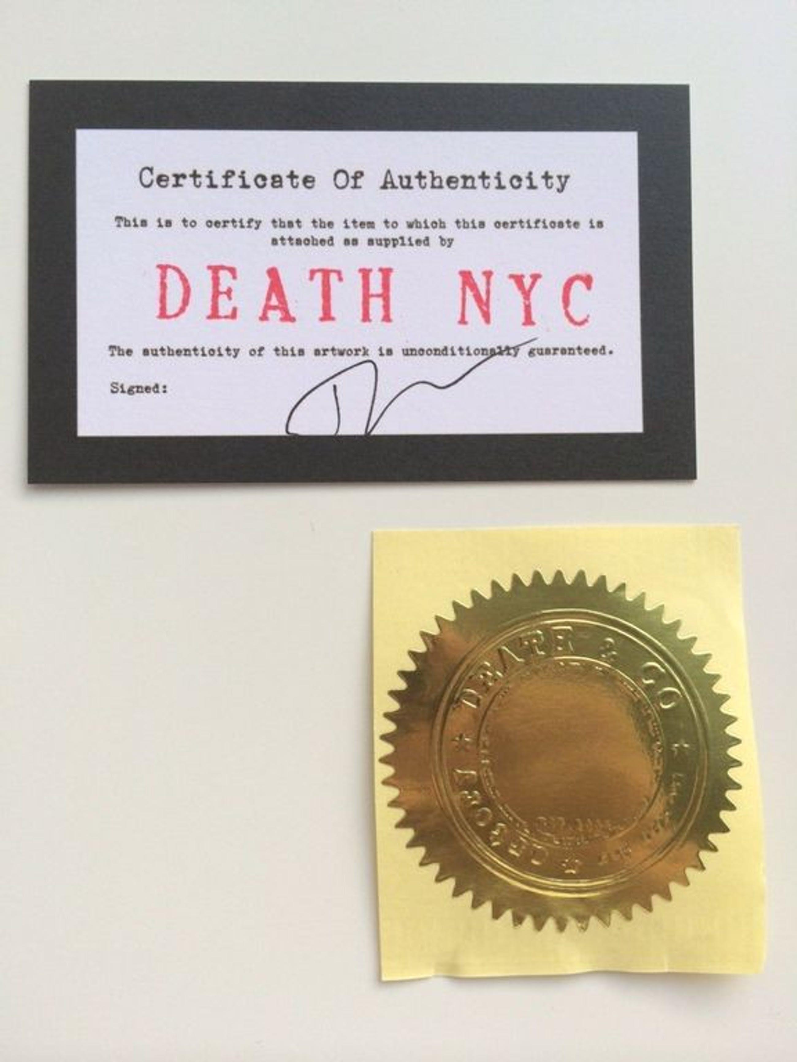 DEATH NYC,Groot formaat Pop Art print,Tank Yellow A/P kopen? Bied vanaf 35!