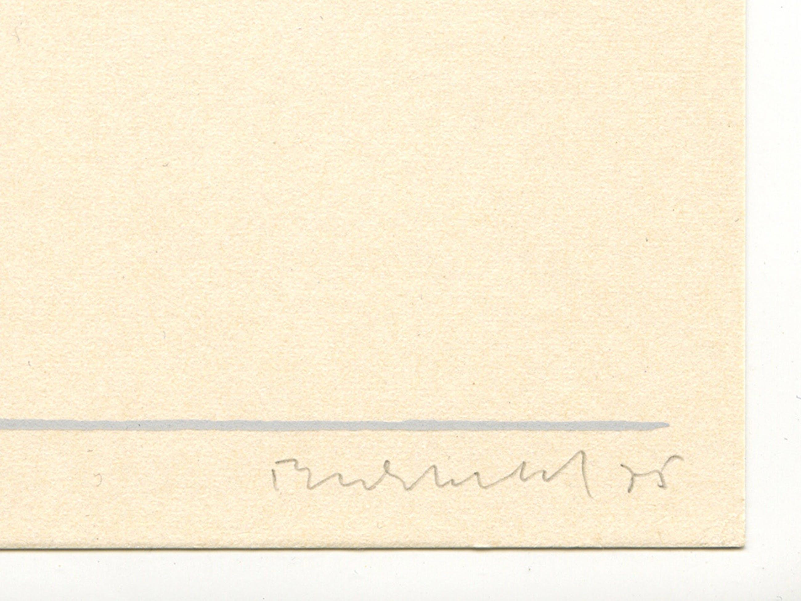 Erwin Bechtold, 'Abstracte compositie', originele litho, handgesigneerd, 1975 kopen? Bied vanaf 30!