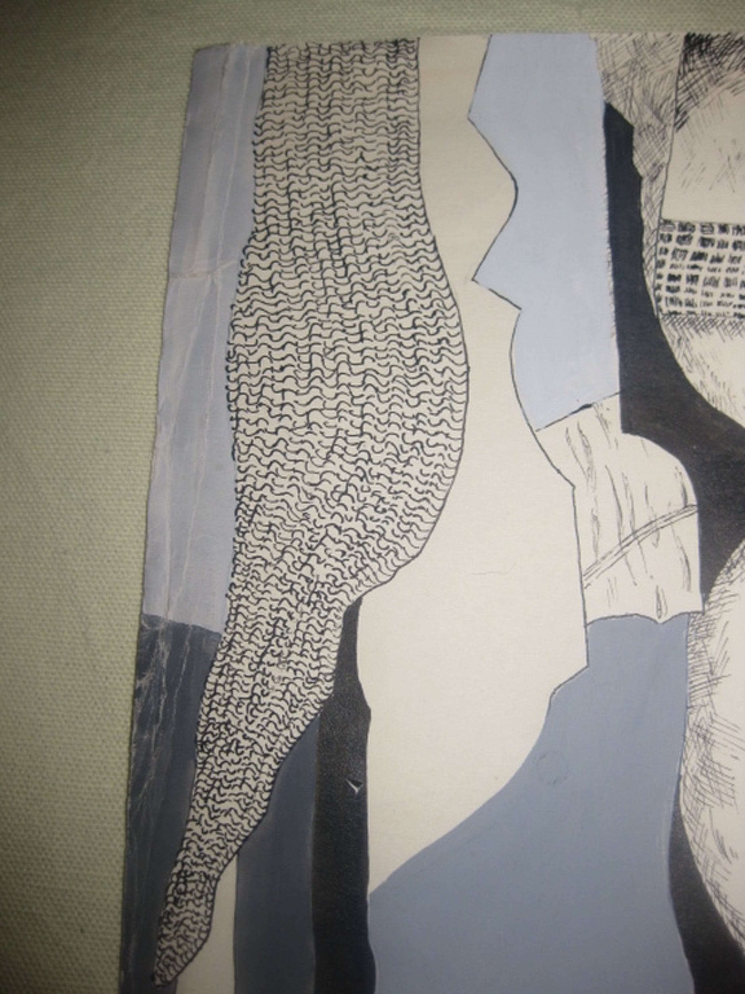 Tekening / gouache van Margot van Capelle - 49x49 cm kopen? Bied vanaf 12!