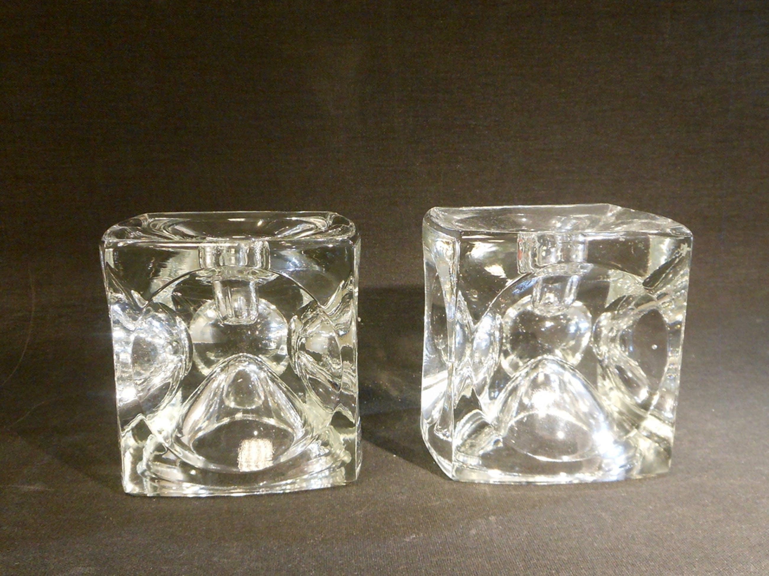 Rudolf Jurnikl / Sklo Union - 2 glazen kandelaars kopen? Bied vanaf 10!
