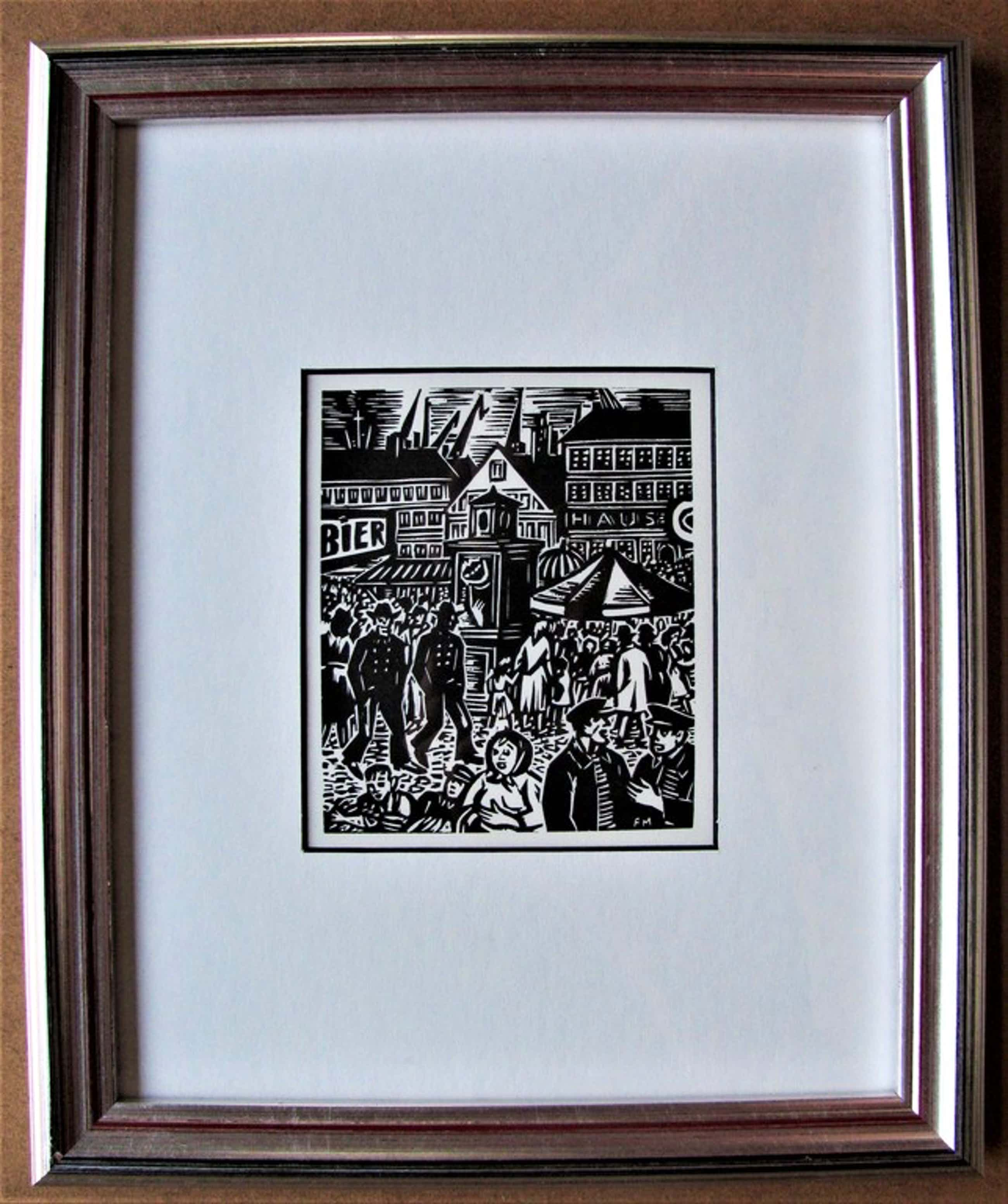"Masereel Frans, ""Das Gesicht Hamburgs"", houtsnede, 1964, ingelijst kopen? Bied vanaf 60!"