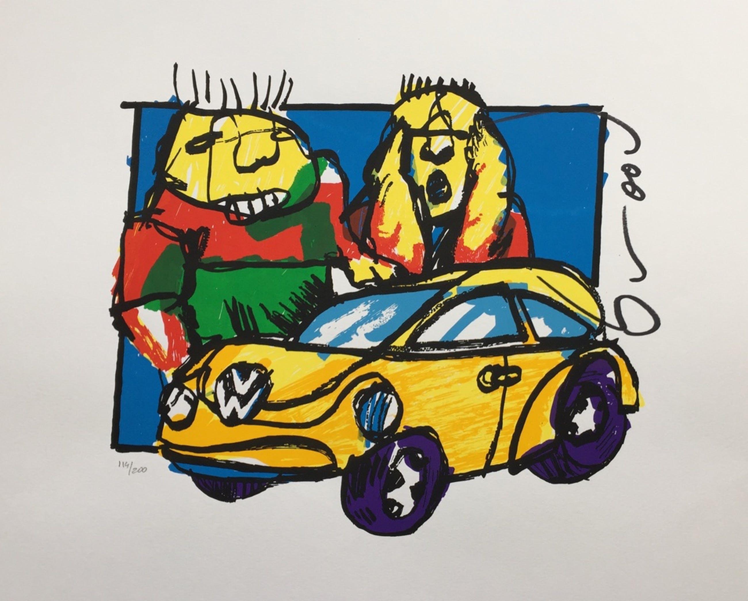 Herman Brood - Originele hand gesigneerde zeefdruk - VW Beetle kopen? Bied vanaf 1!