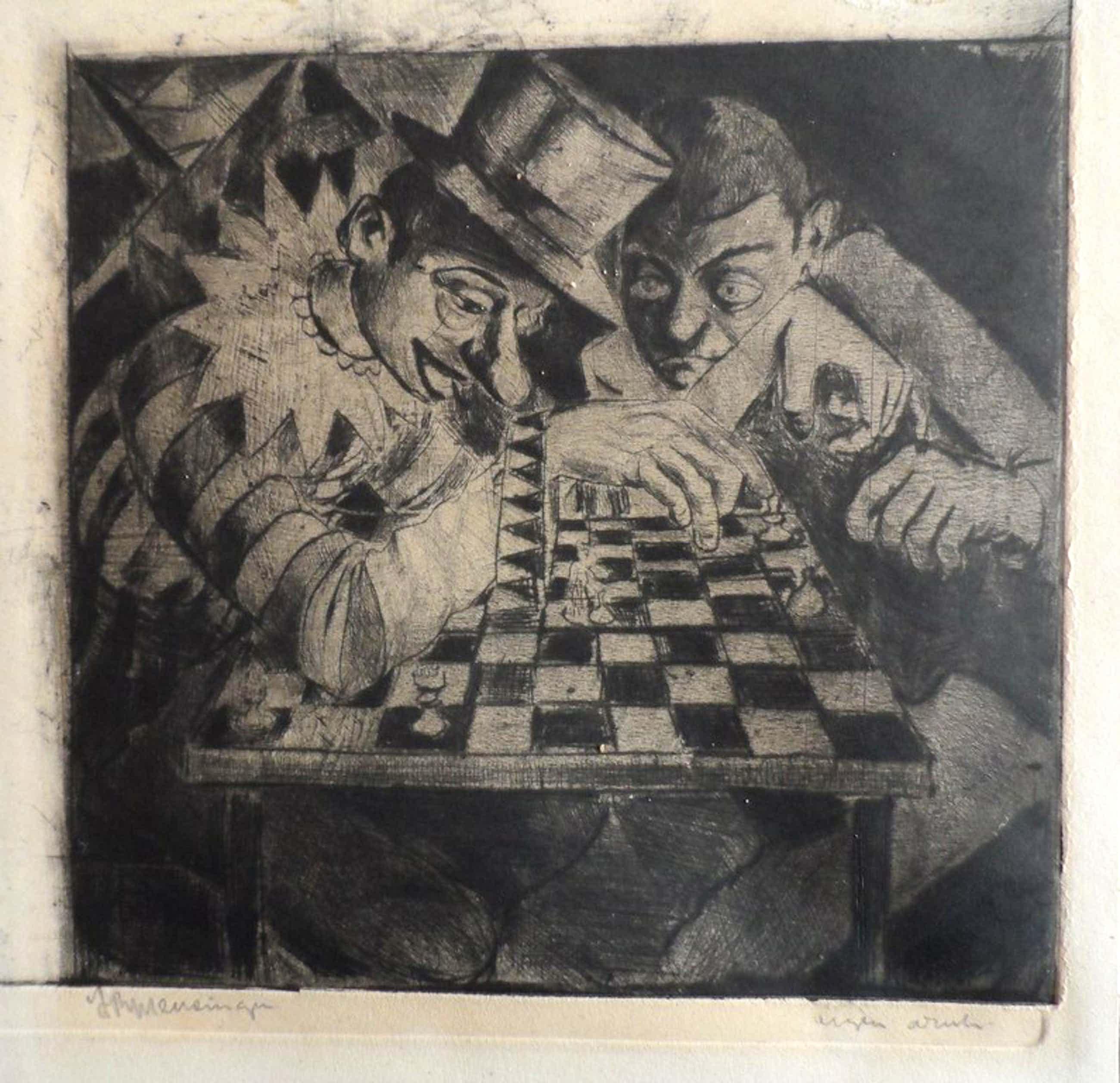 Jan Roelf Mensinga : ets, schakende clowns kopen? Bied vanaf 65!