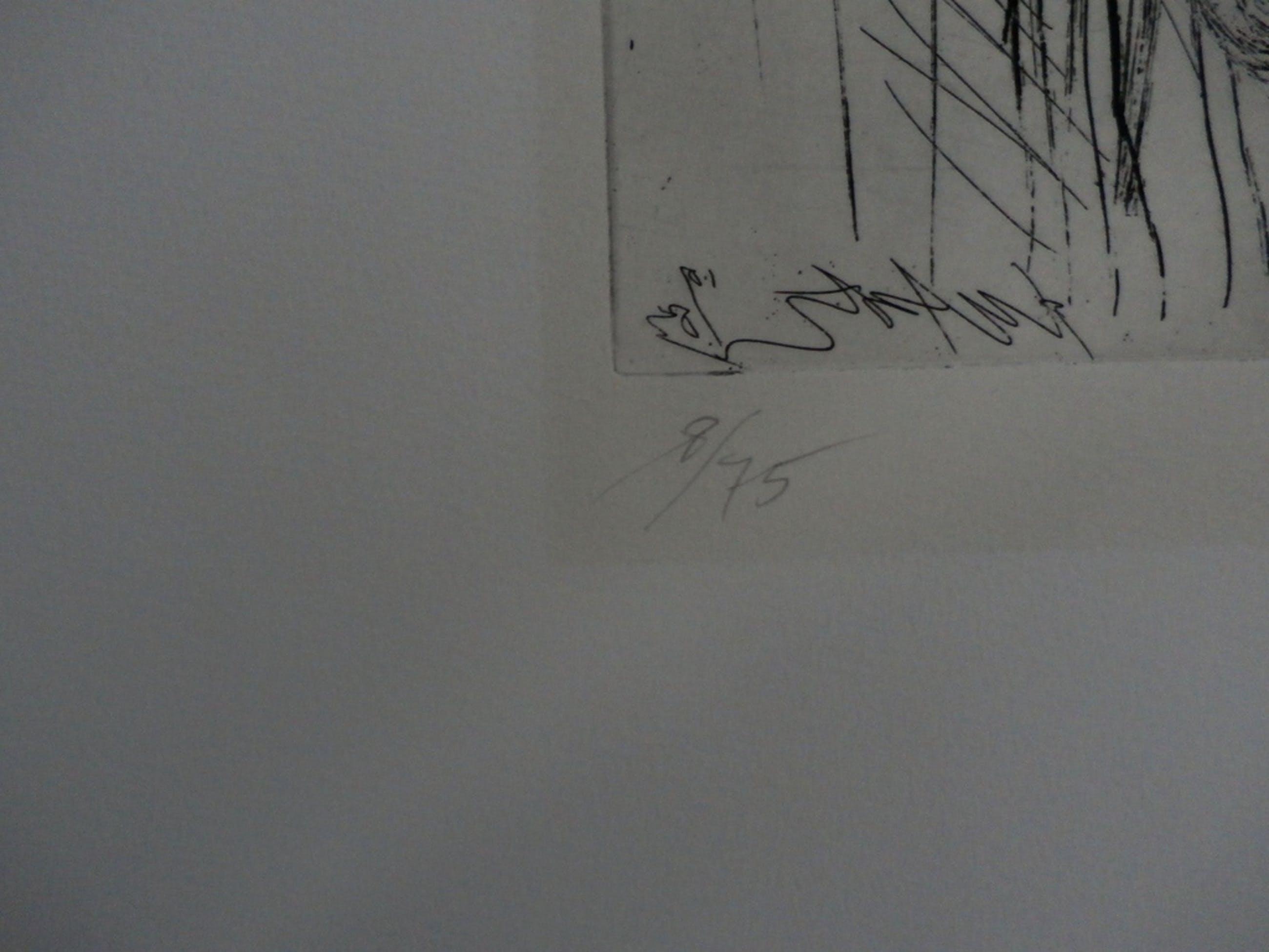 Ger Lataster - abstracte ets - 1983 kopen? Bied vanaf 65!