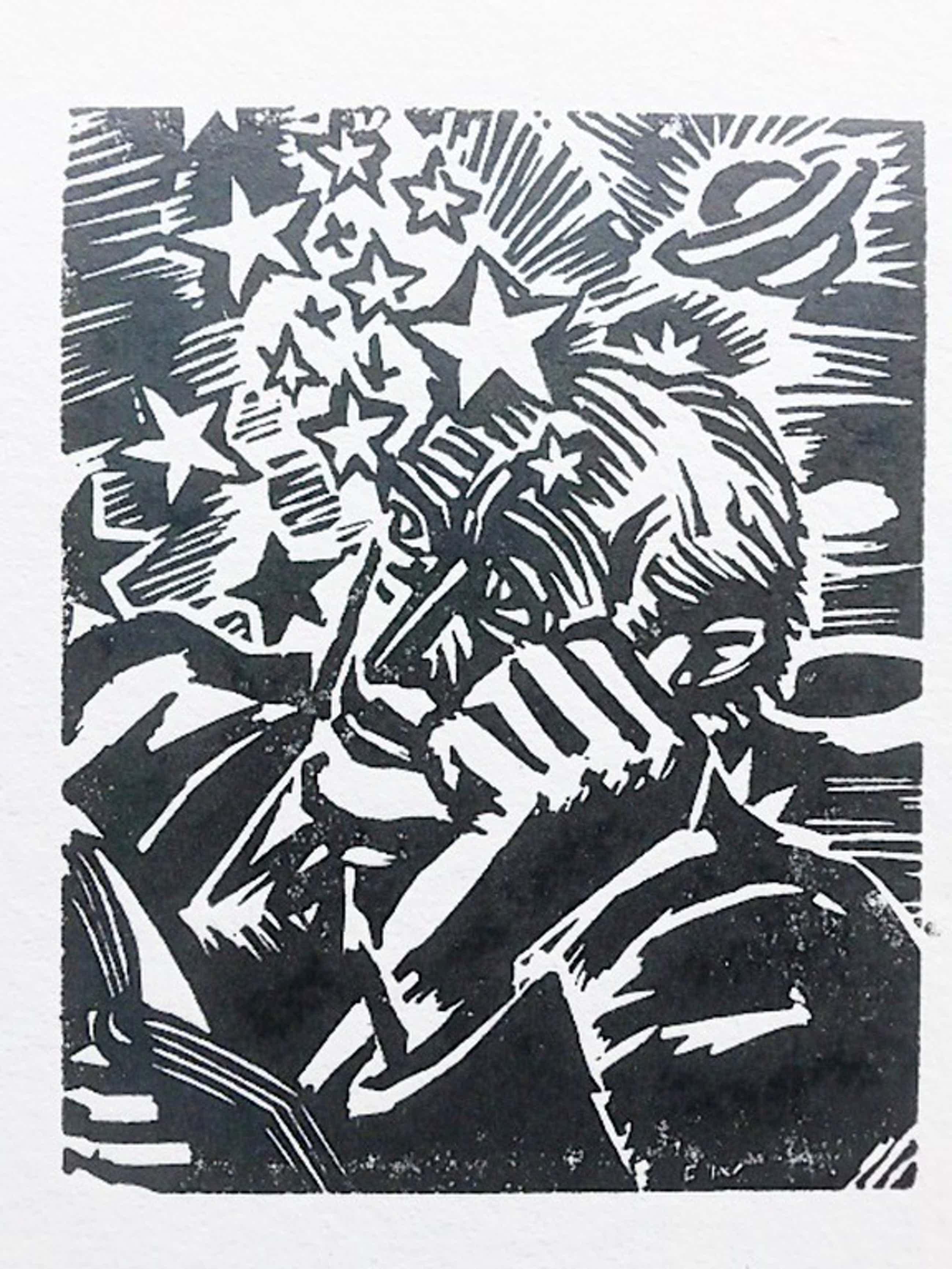 Frans Masereel, houtsnede: Gelehrter, 1949 kopen? Bied vanaf 35!