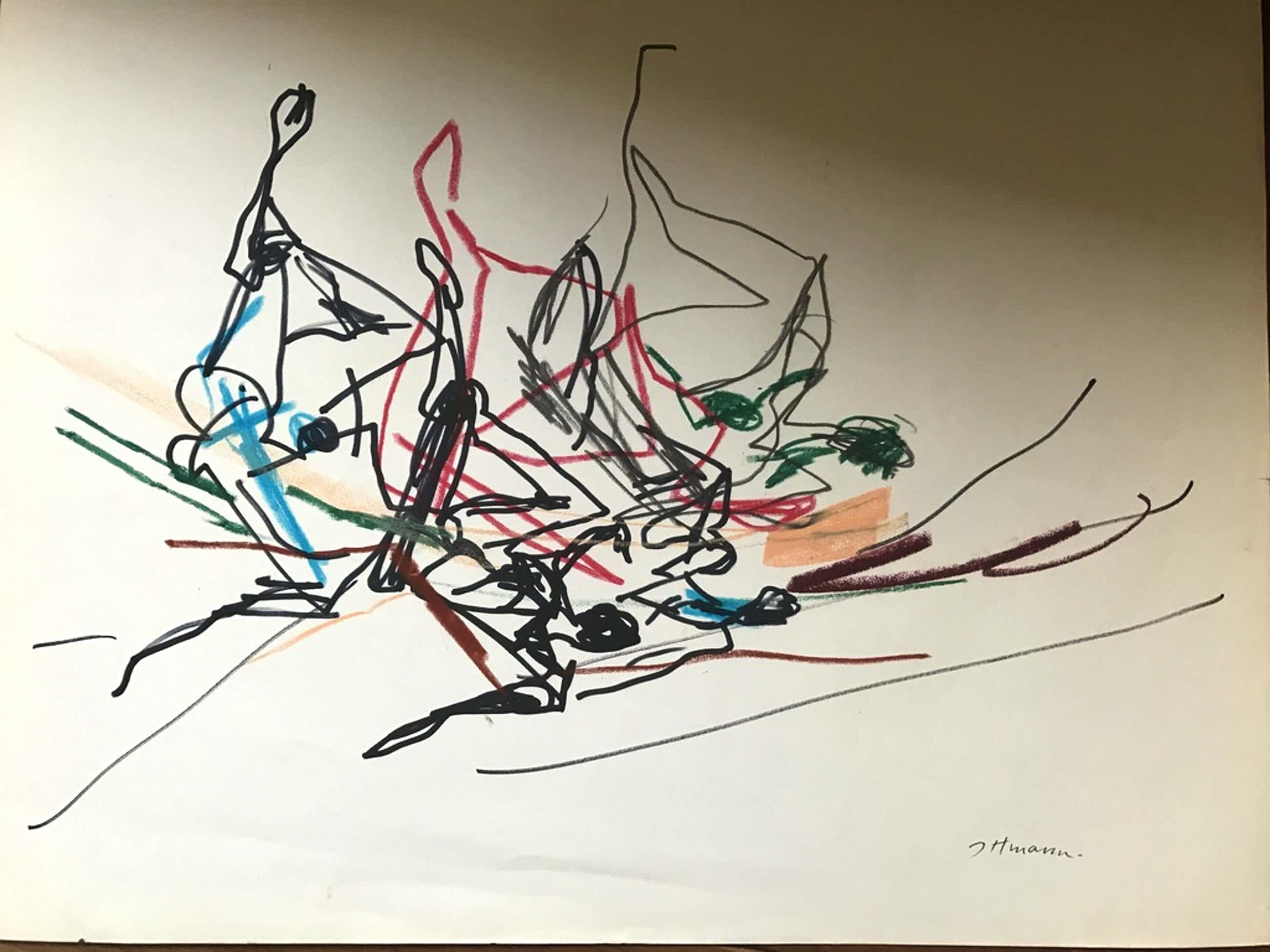 Hans ittmann aquarel moderne compositie  kopen? Bied vanaf 40!