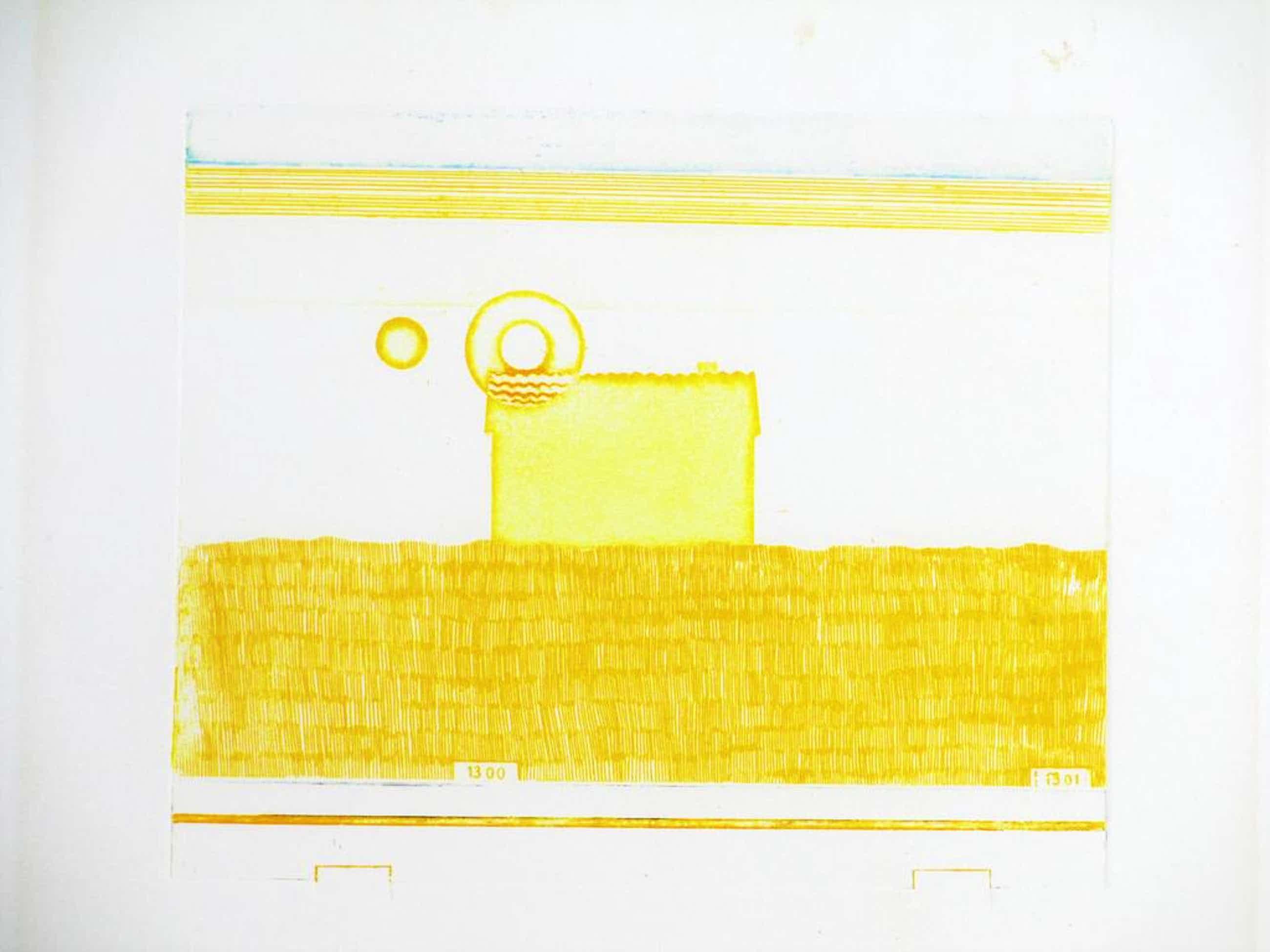 Eduard Flor, Compositie in geel, Kleurets kopen? Bied vanaf 55!