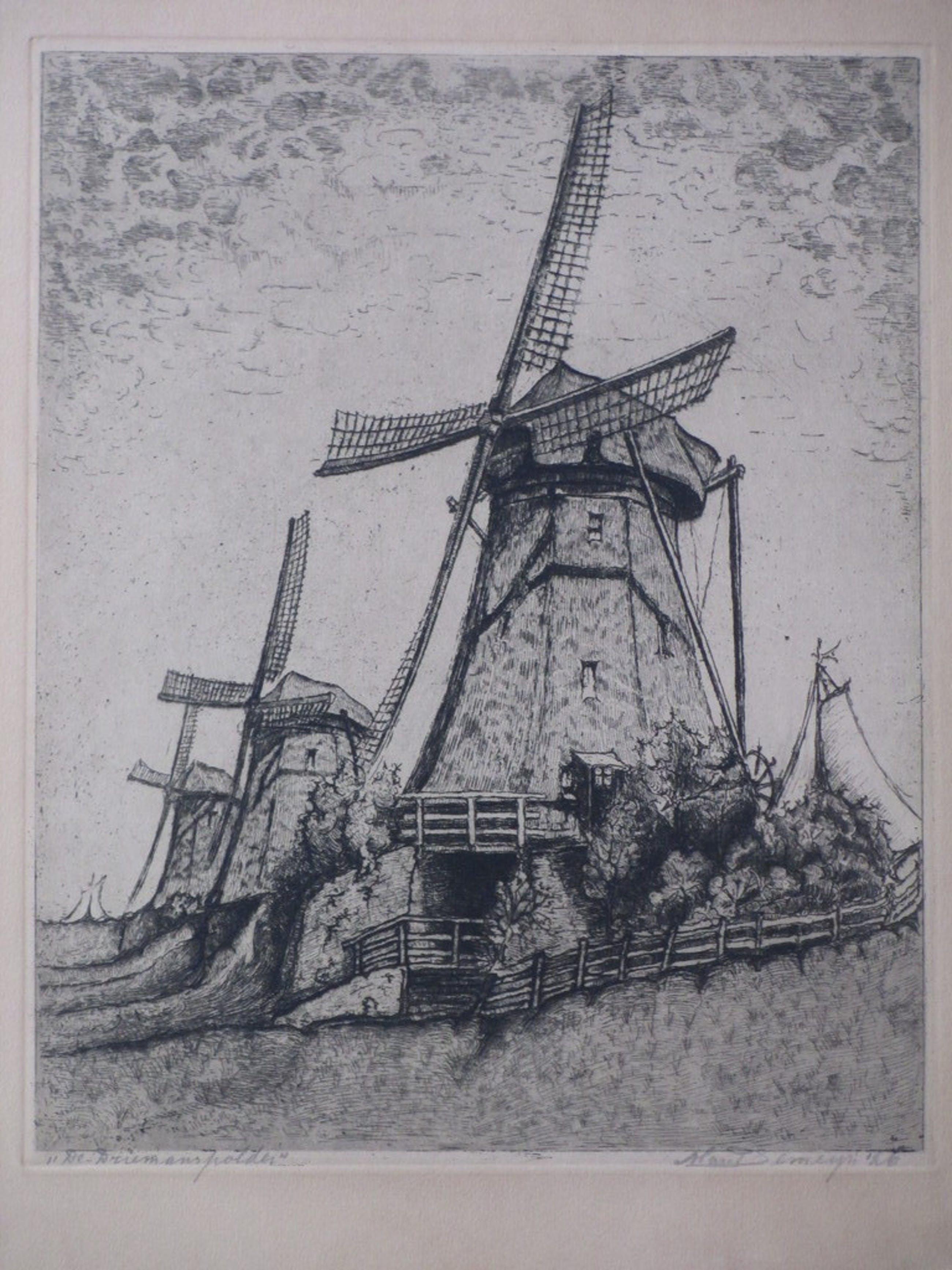 Marinus Pieter Semeijn, De Driemanspolder, Ets '26 kopen? Bied vanaf 30!