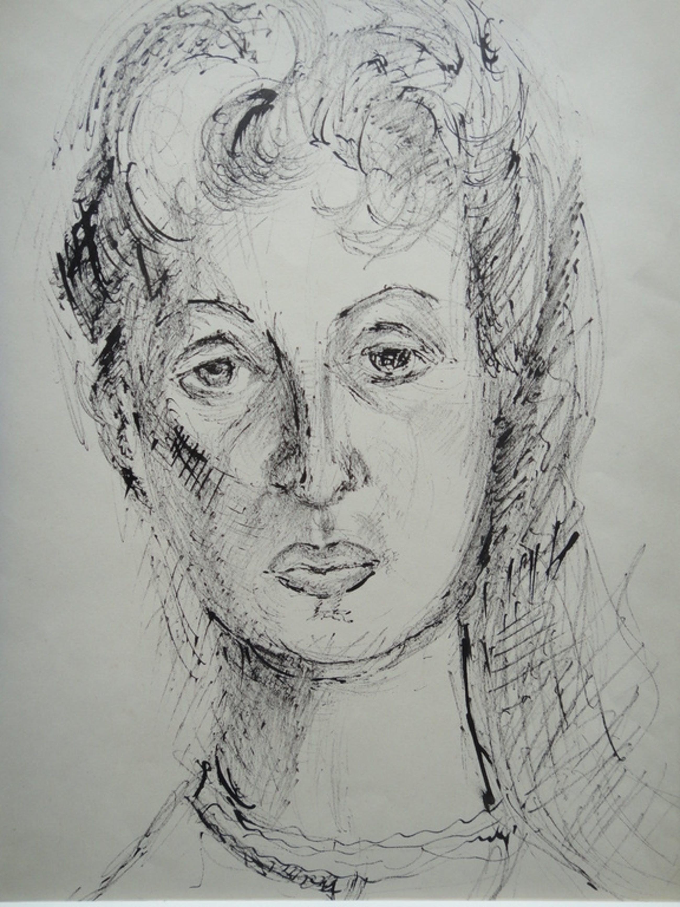 Gerard Schäperkötter , tekening, gezicht van vrouw kopen? Bied vanaf 1!