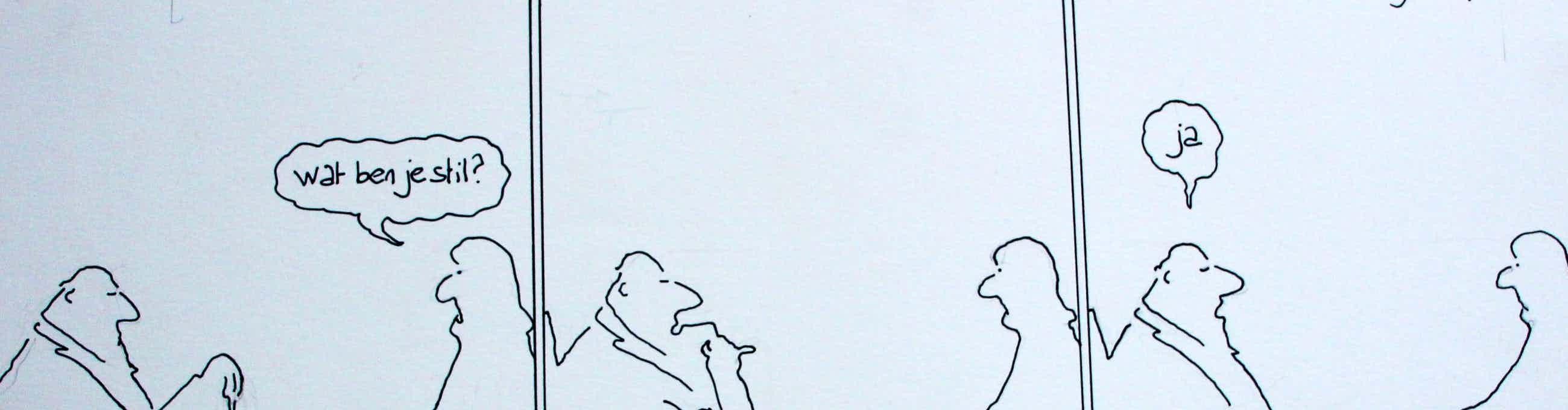 """Toon van Driel - Pentekening: """"Hullie"""" kopen? Bied vanaf 40!"""