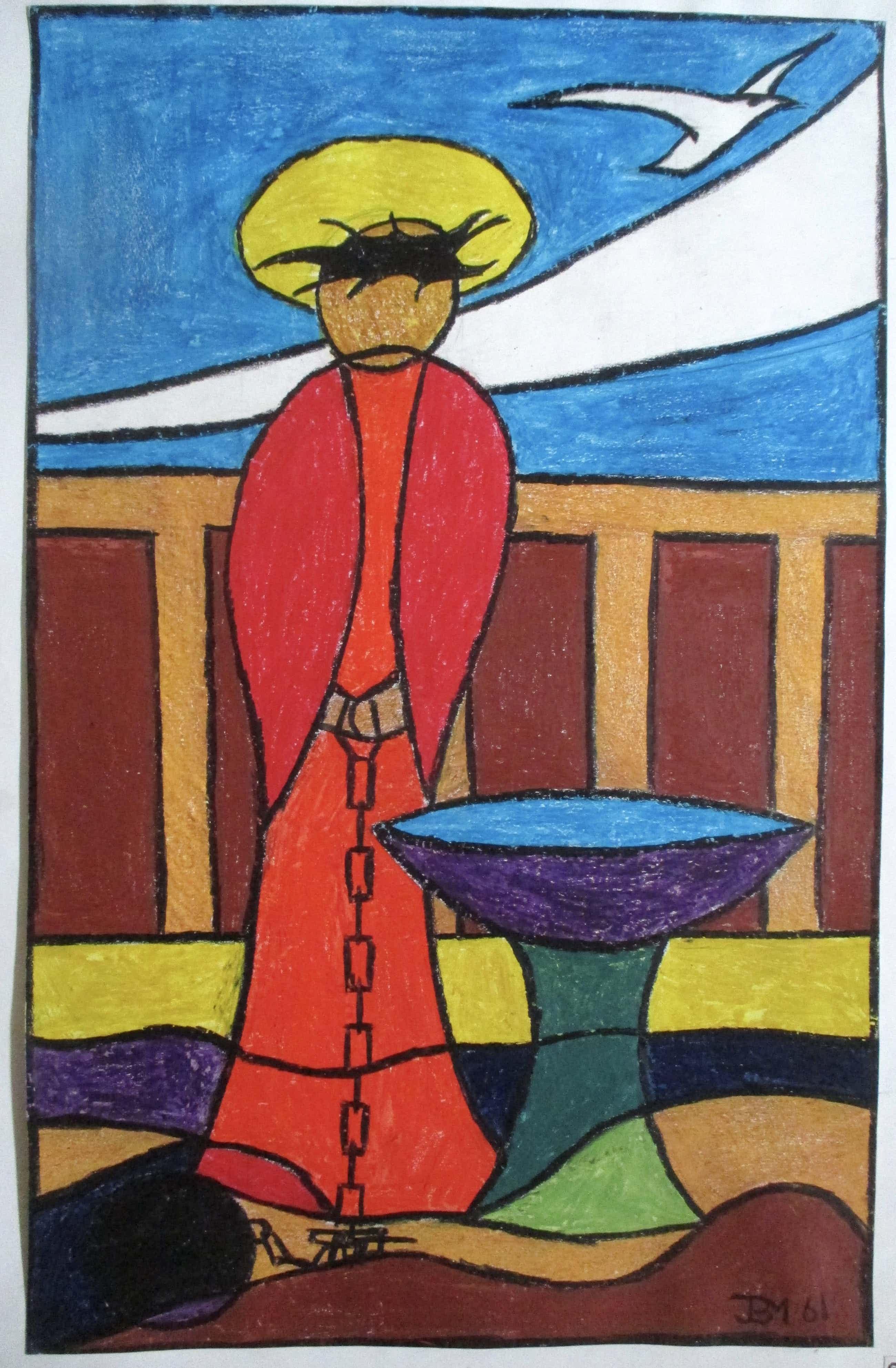 Jan Bernard Meinen - Schilderij op papier kopen? Bied vanaf 70!