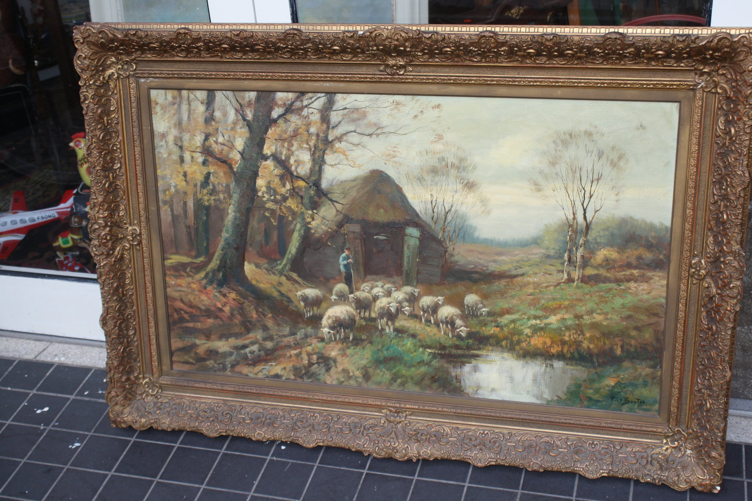 Piet Bouter - schapen en herder op de heide kopen? Bied vanaf 210!