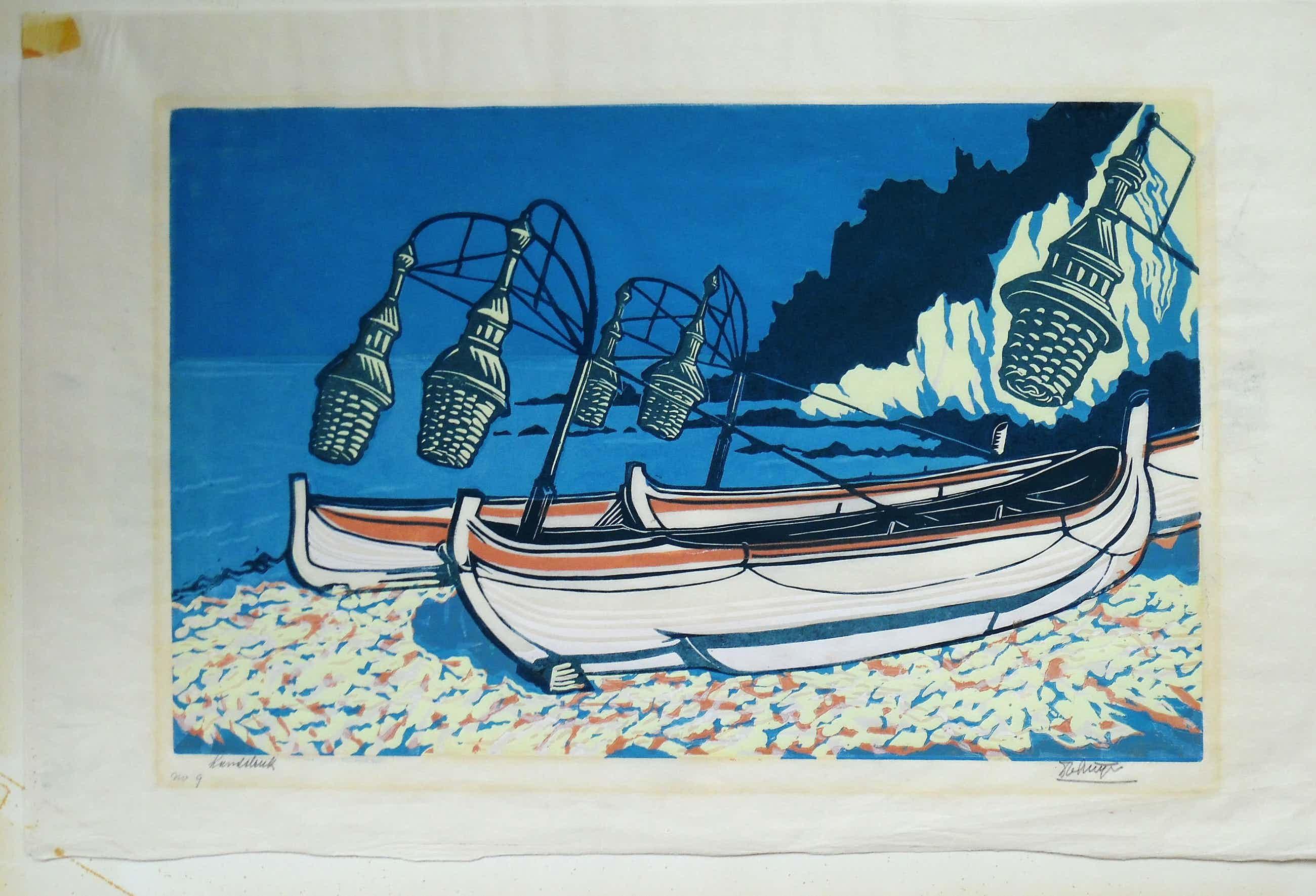 Dick van Luijn - Vissersboten met lantaarns kopen? Bied vanaf 40!
