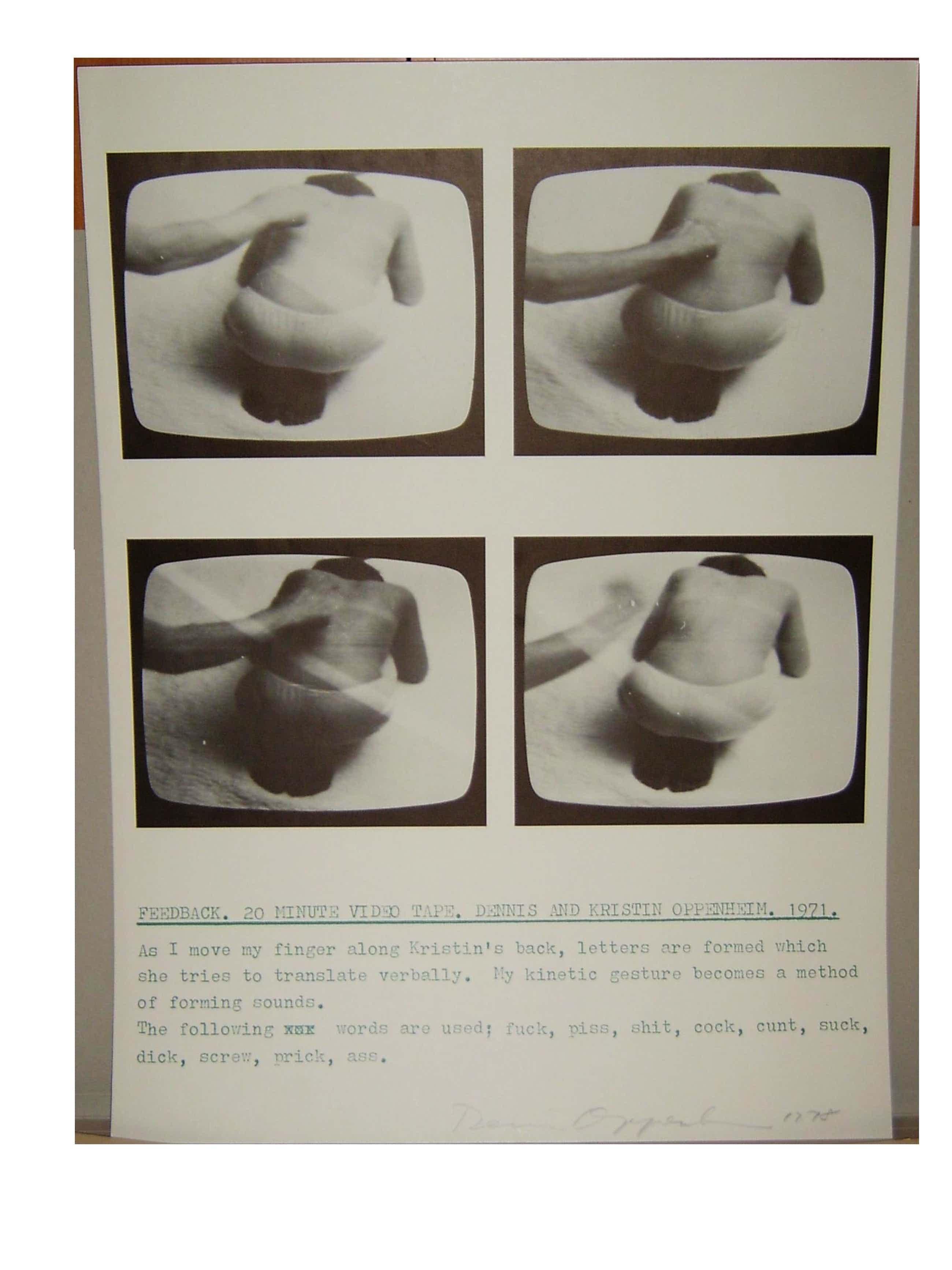 Dennis Oppenheim - -Feedback-, Offsetlithografie, handsigniert, datiert kopen? Bied vanaf 190!